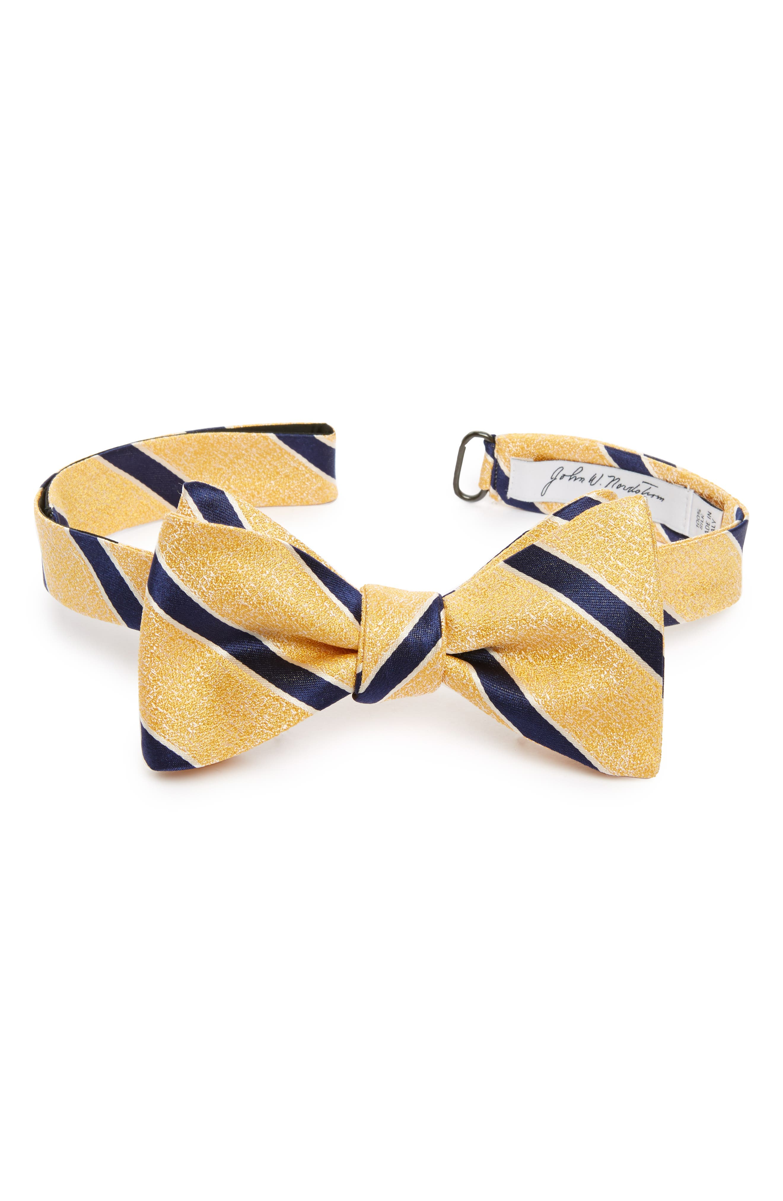 Alternate Image 1 Selected - John W. Nordstrom® Stripe Silk Bow Tie