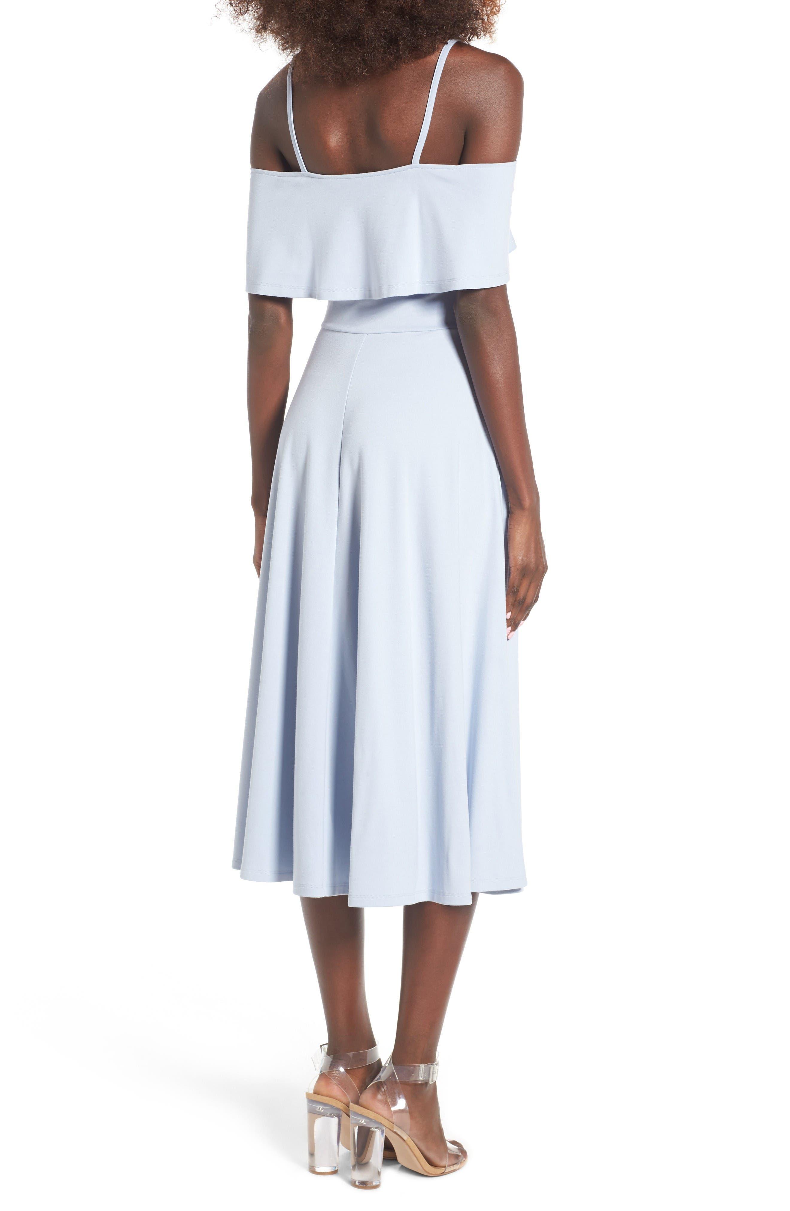 Alternate Image 2  - Leith Cold Shoulder Midi Dress