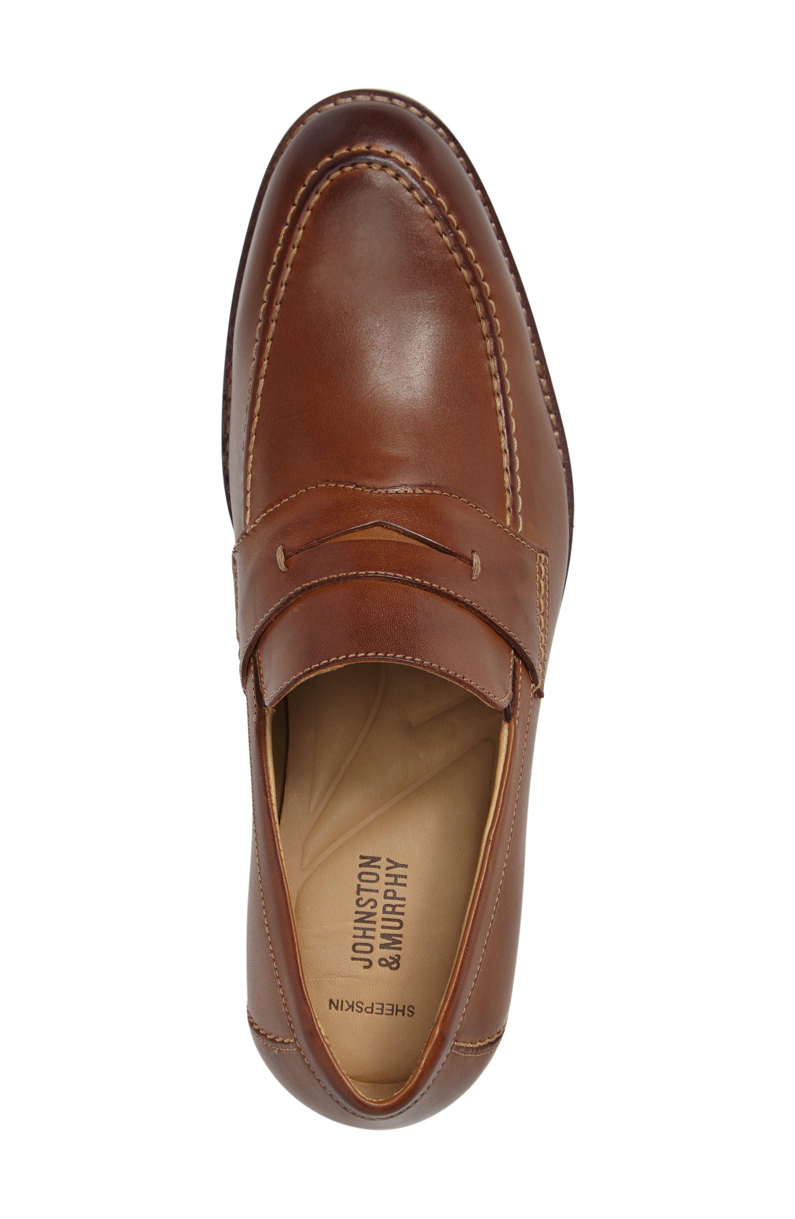 Garner Penny Loafer,                             Alternate thumbnail 4, color,                             Tan Leather