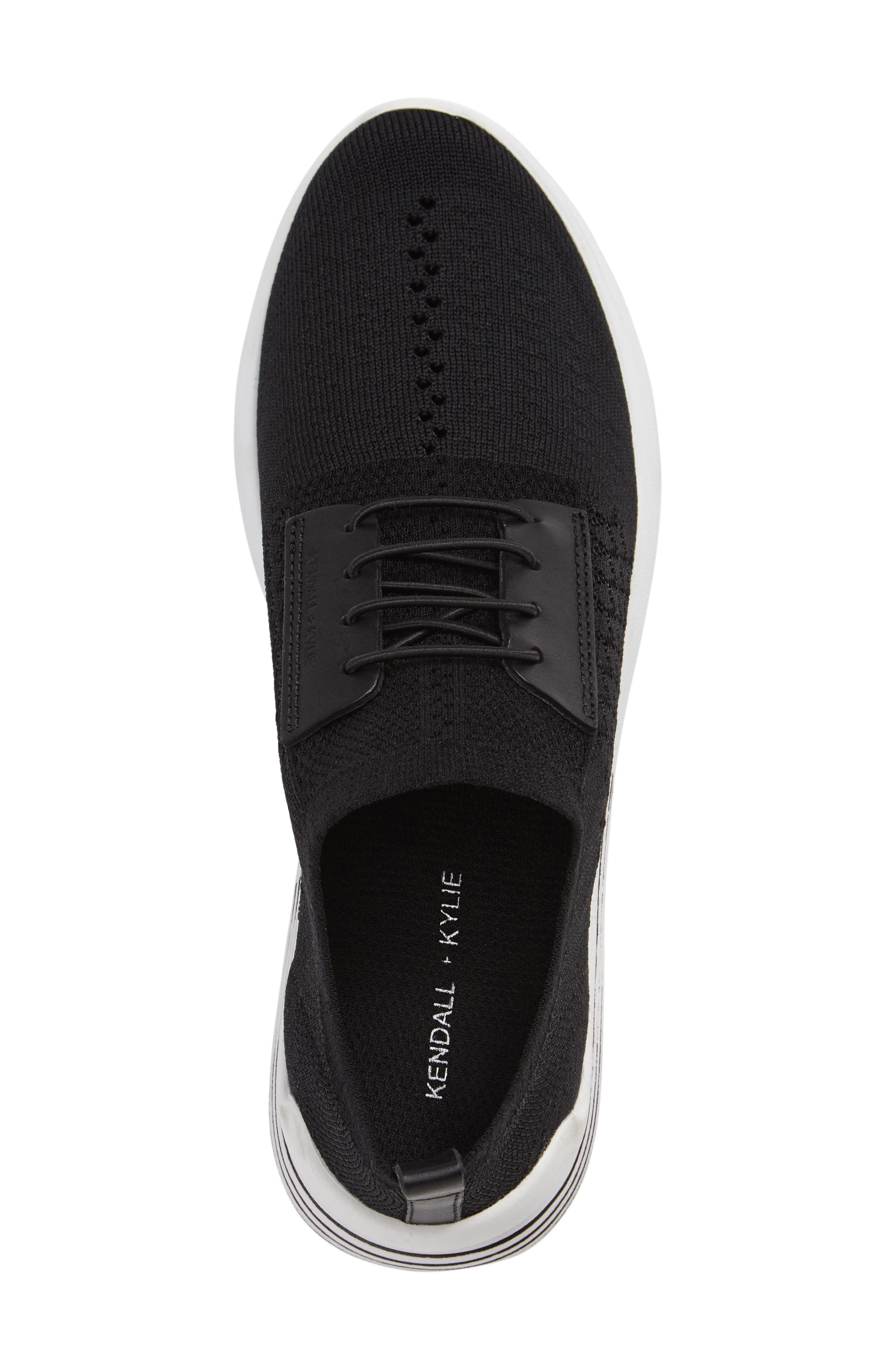 Brandy Woven Sneaker,                             Alternate thumbnail 3, color,                             Black/ Black Fabric