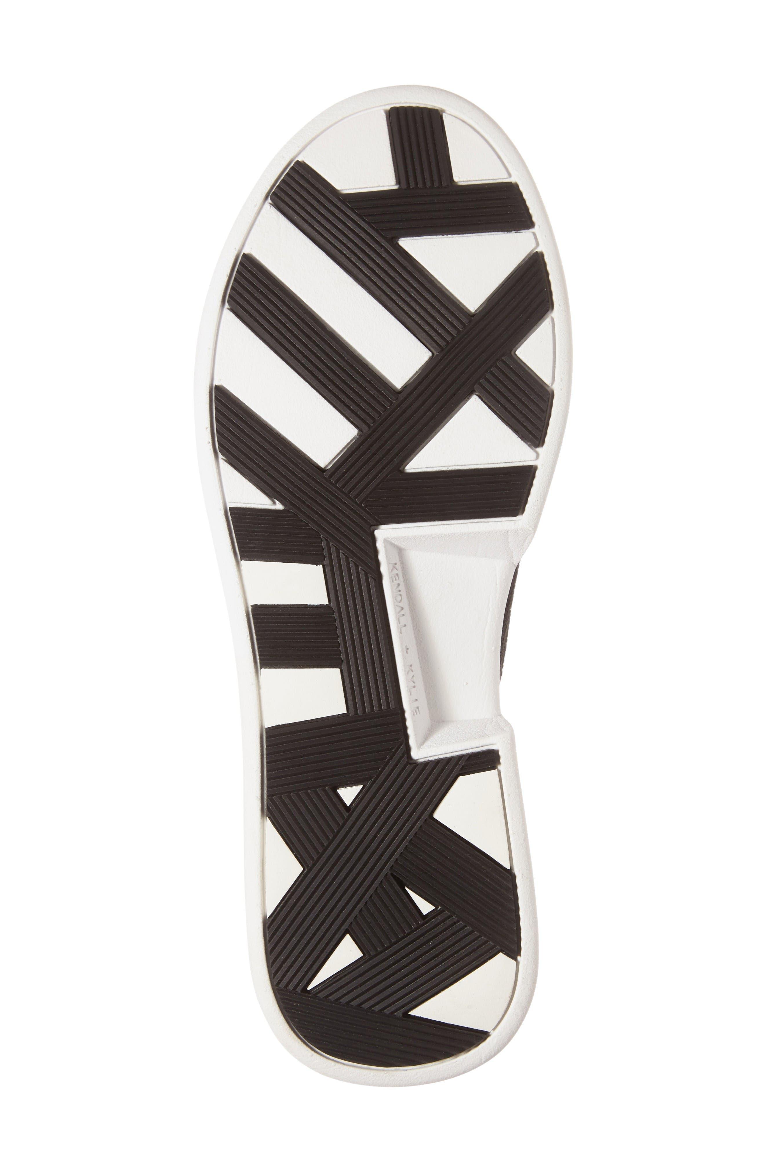 Brandy Woven Sneaker,                             Alternate thumbnail 4, color,                             Black/ Black Fabric