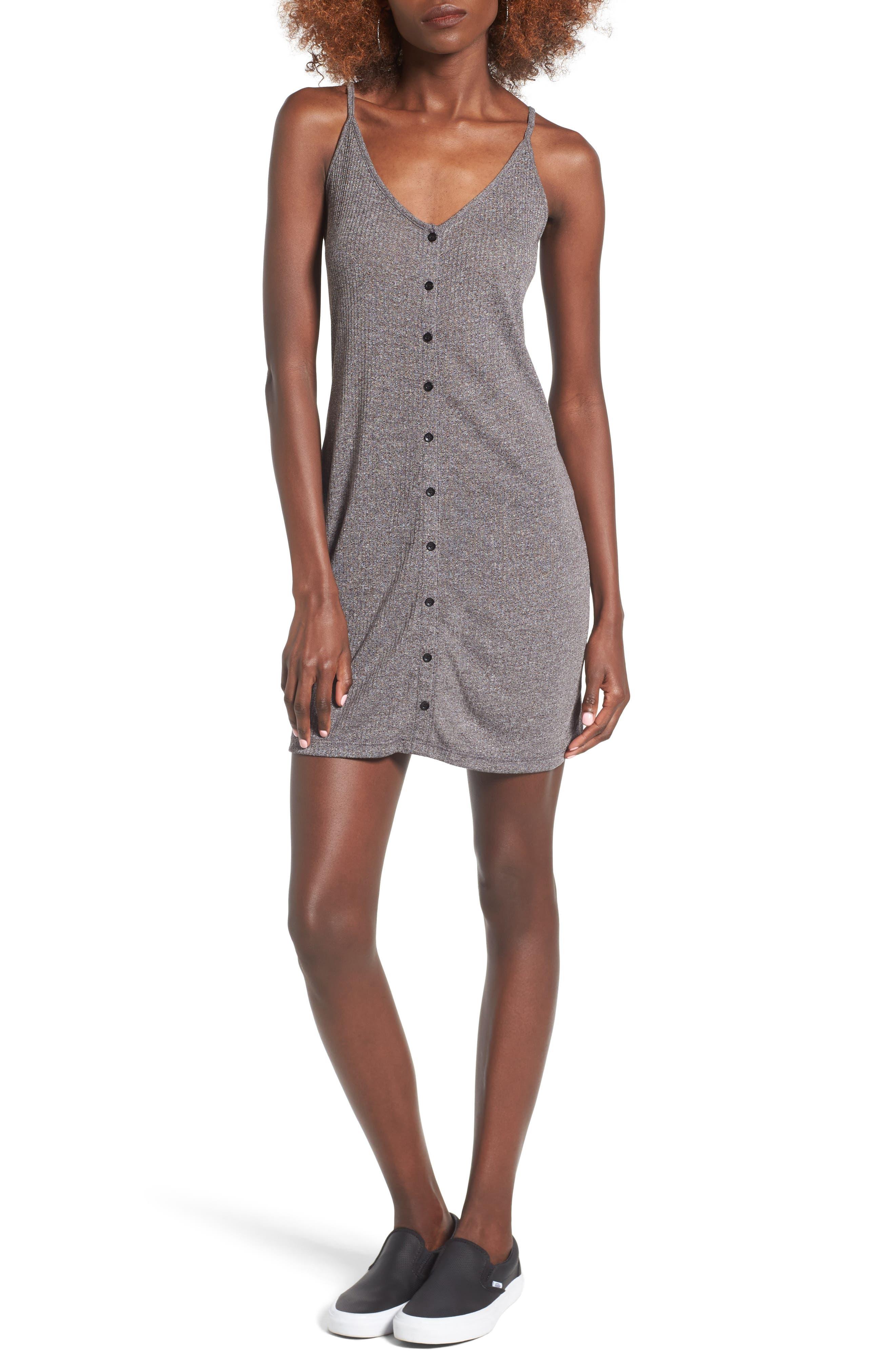 Barbados Rib Knit Dress,                         Main,                         color, Heather Grey