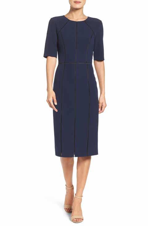 Maggy London Solid Dream Crepe Dress (Regular & Petite)