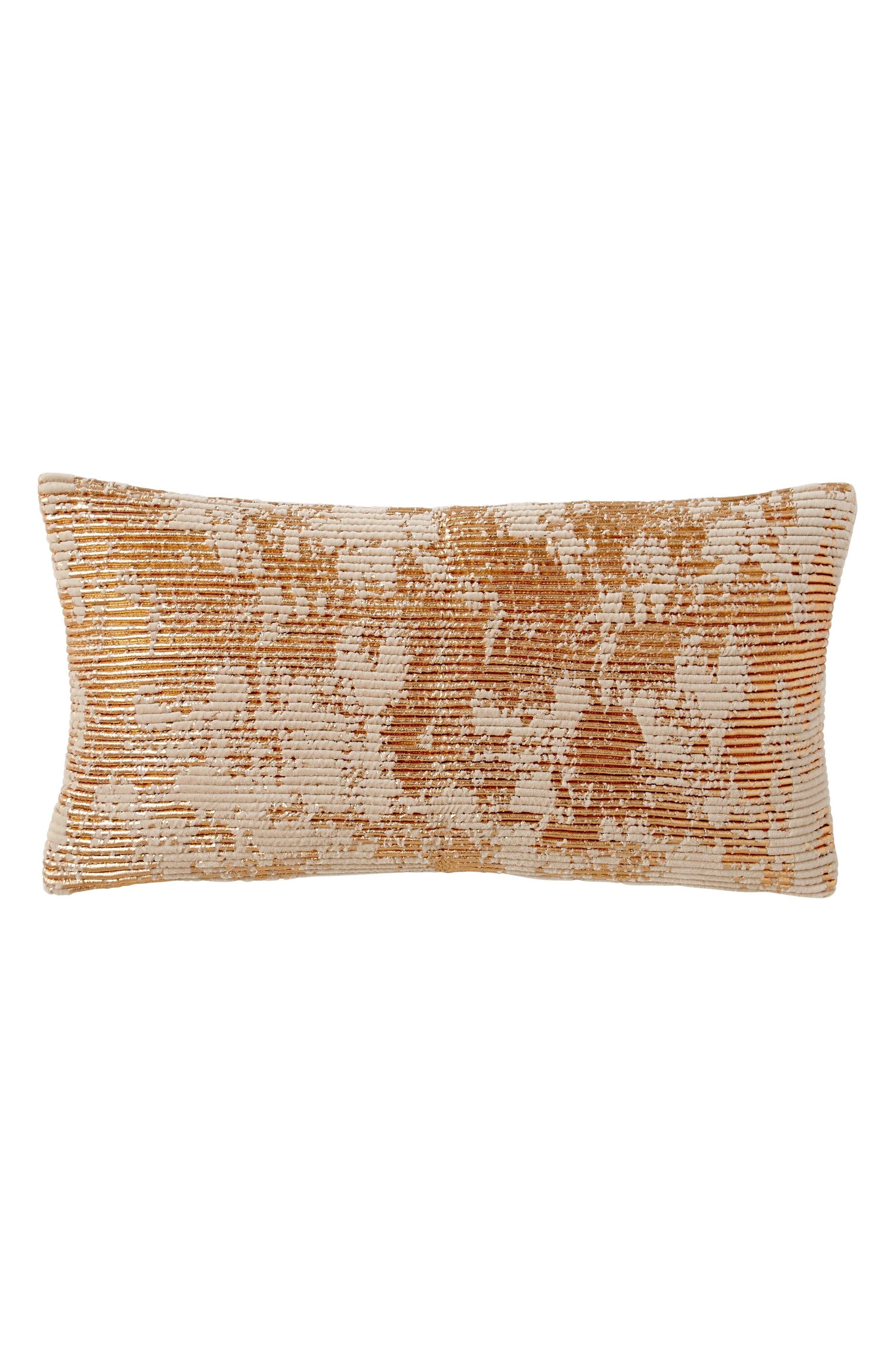 Donna Karan Homoe Collection Awakening Velvet Accent Pillow,                         Main,                         color, Blush