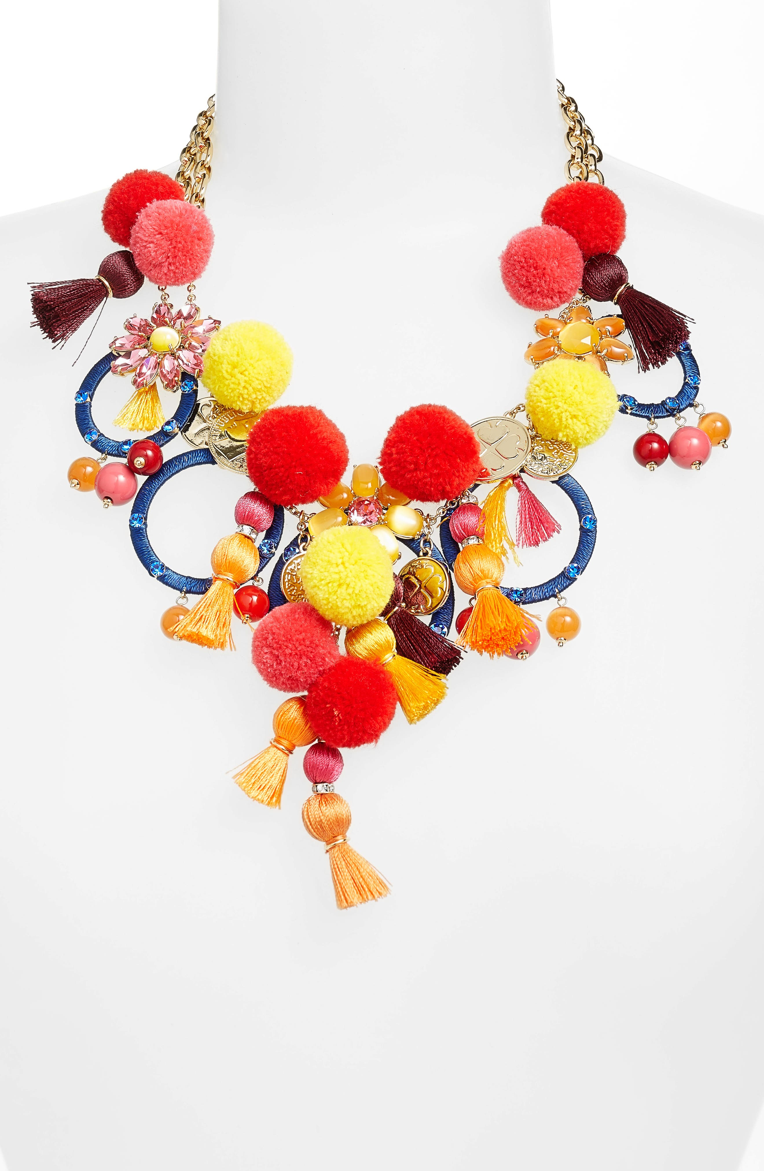 Alternate Image 2  - kate spade new york pretty poms statement necklace