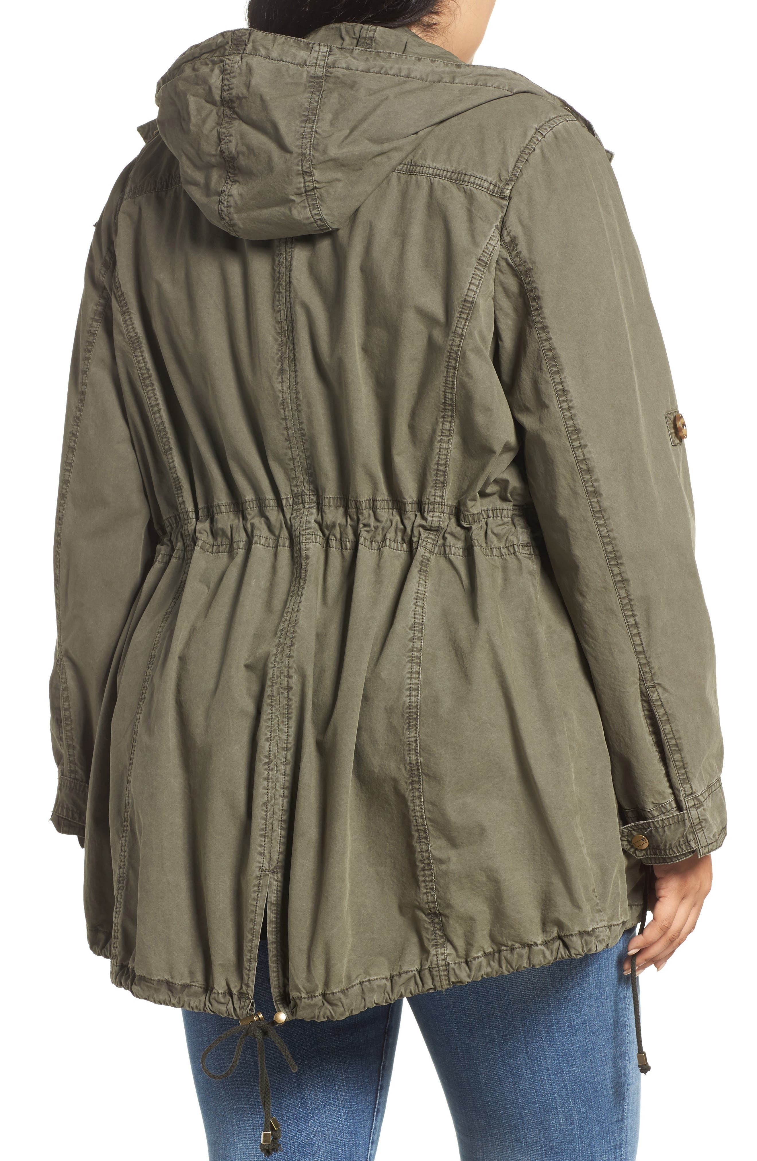 Roll-Sleeve Anorak,                             Alternate thumbnail 2, color,                             Army Green