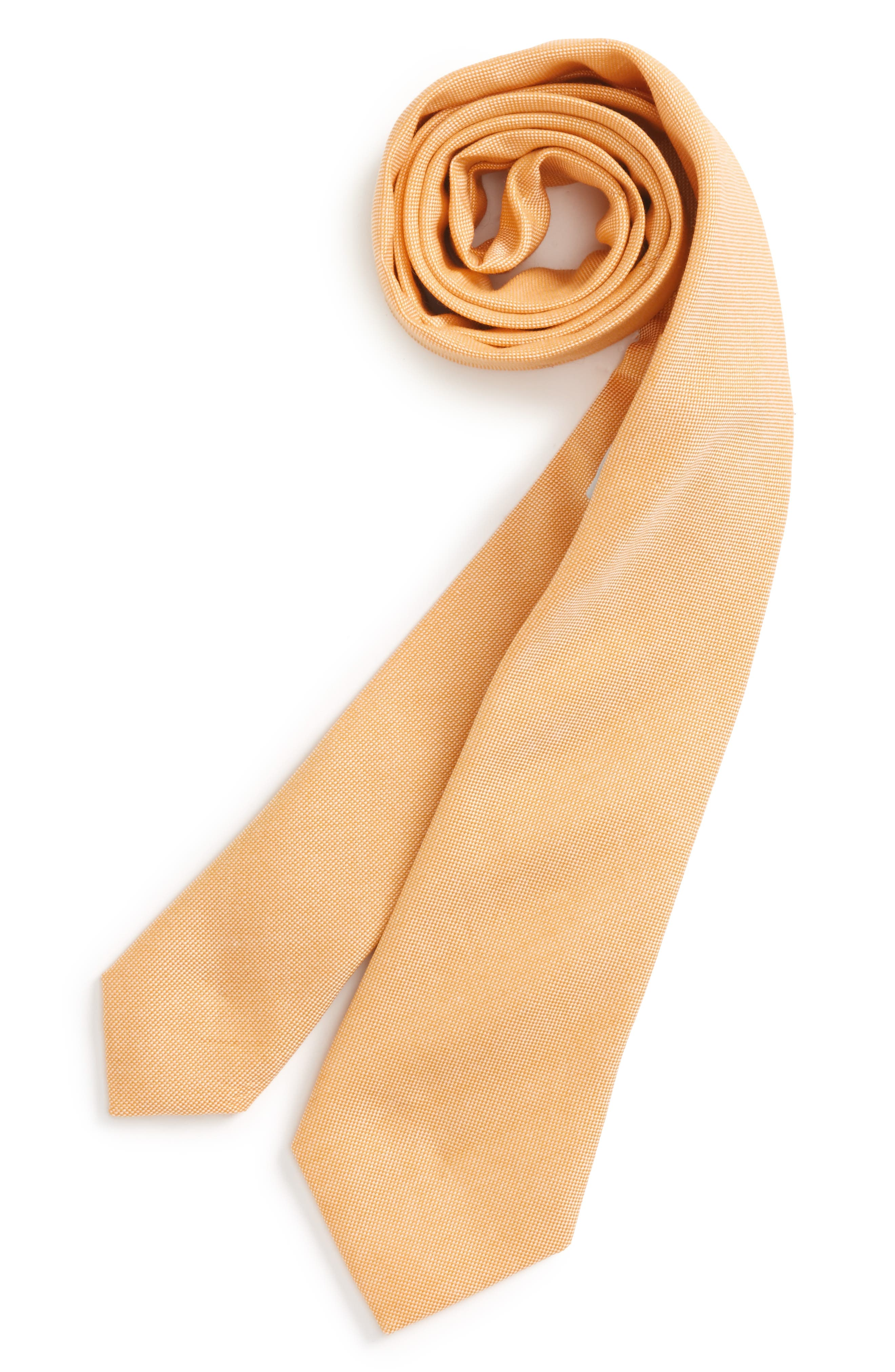 Nordstrom Solid Cotton Tie (Big Boys)
