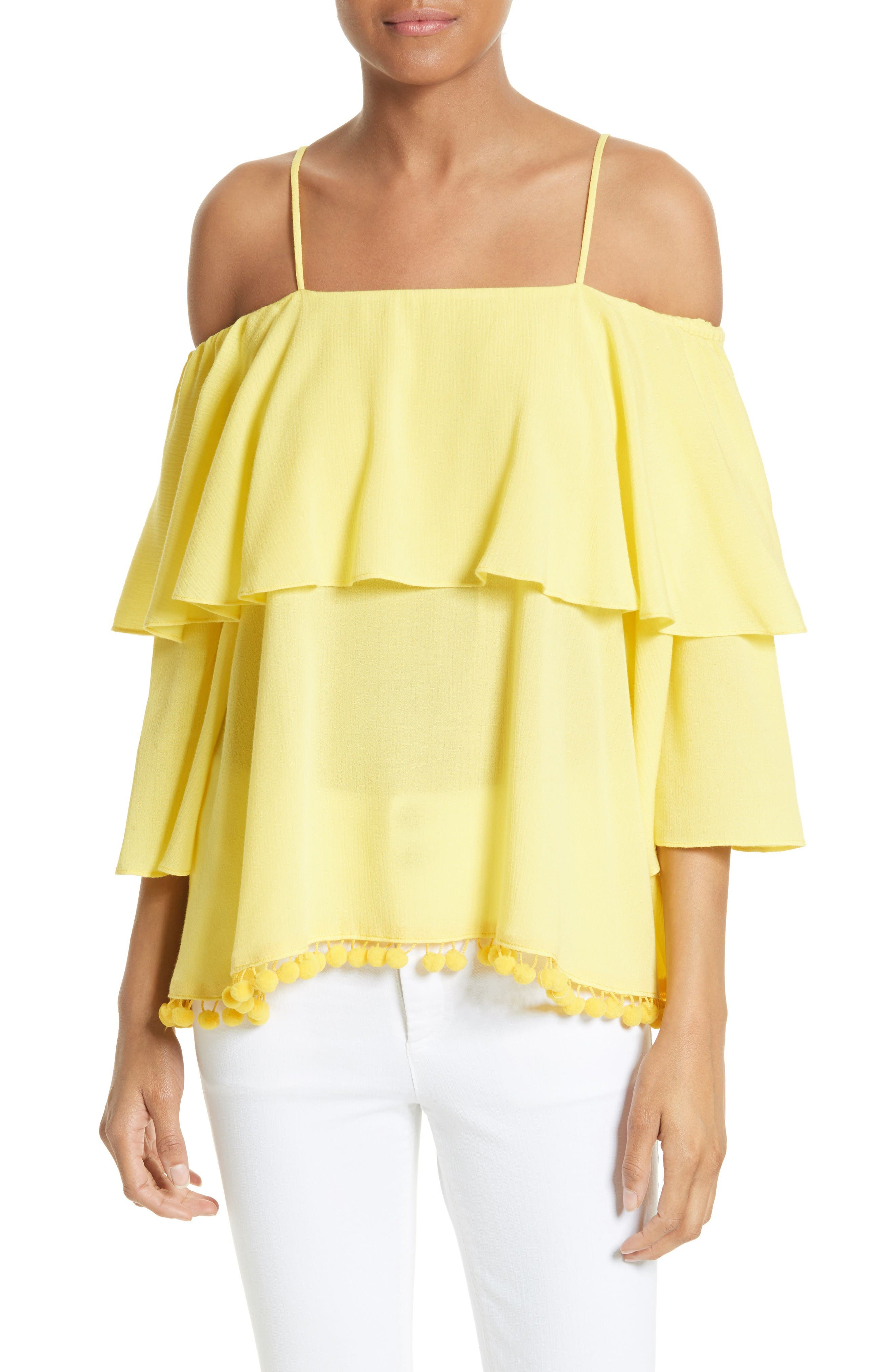 Main Image - Alice + Olivia Meagan Tiered Blouse