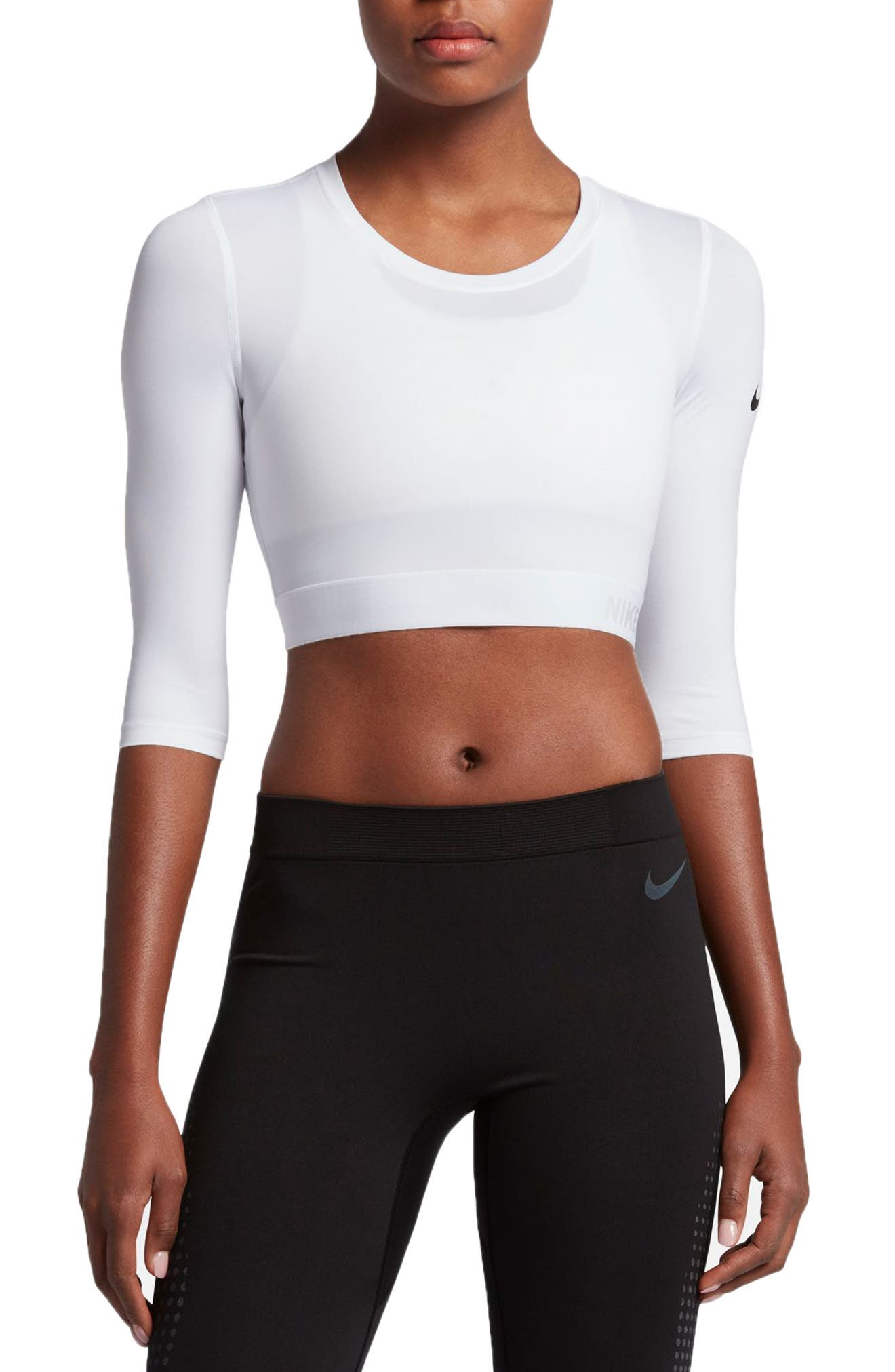 Alternate Image 1 Selected - Nike Pro Hypercool Crop Top