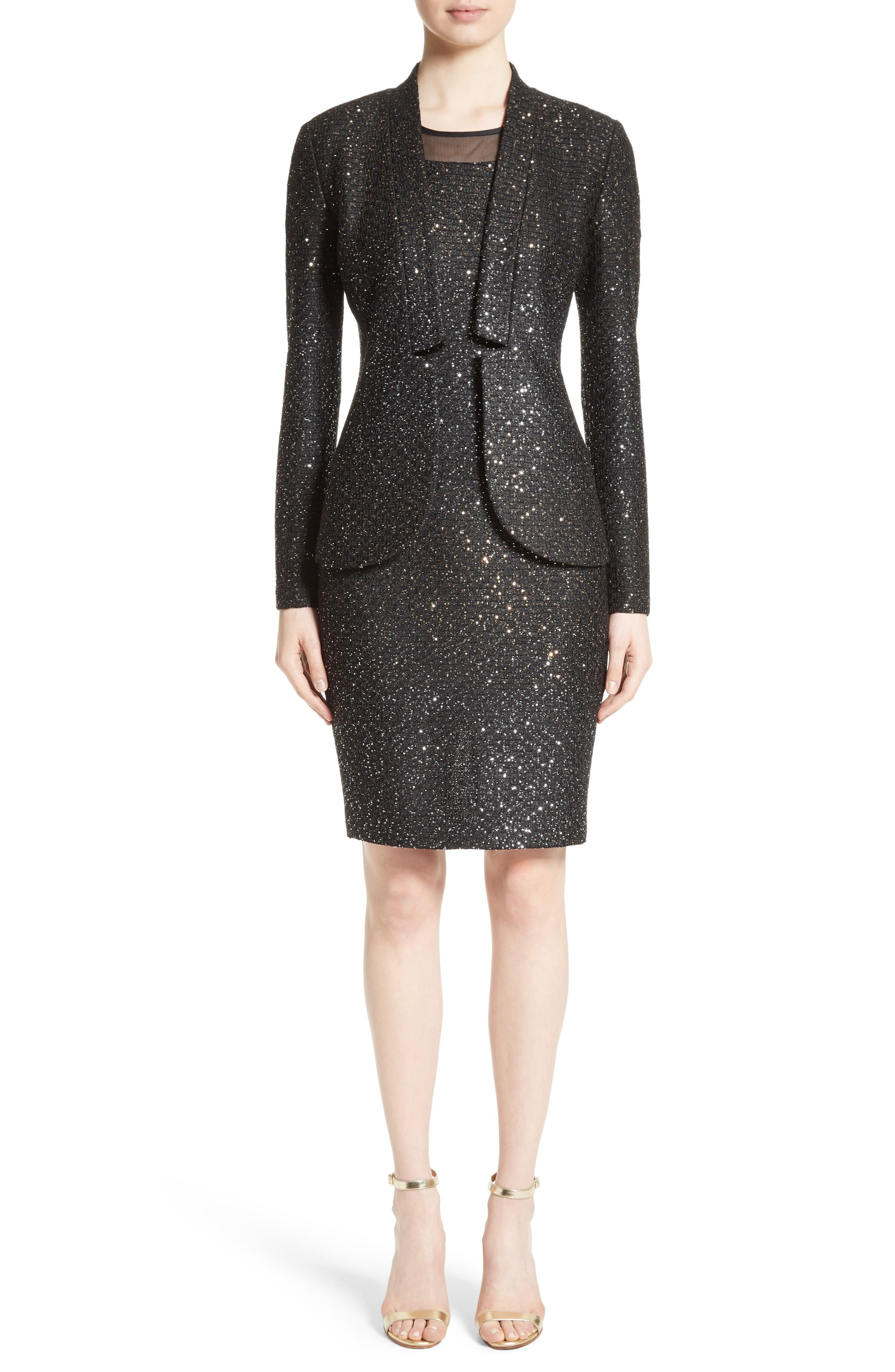 Alternate Image 7  - St. John Collection Pranay Sequin Knit Sheath Dress