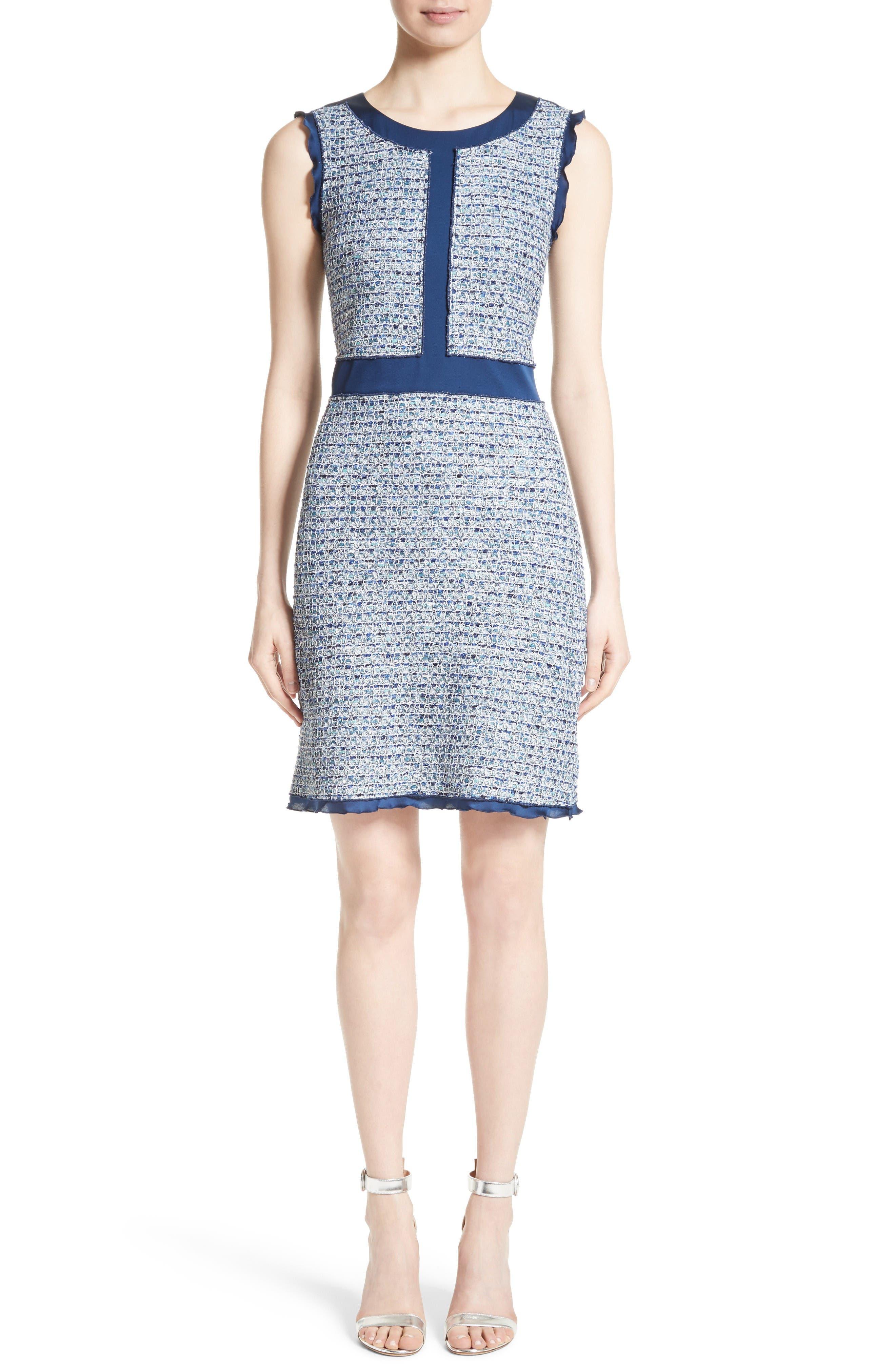 Main Image - St. John Collection Kiara Tweed A-Line Dress