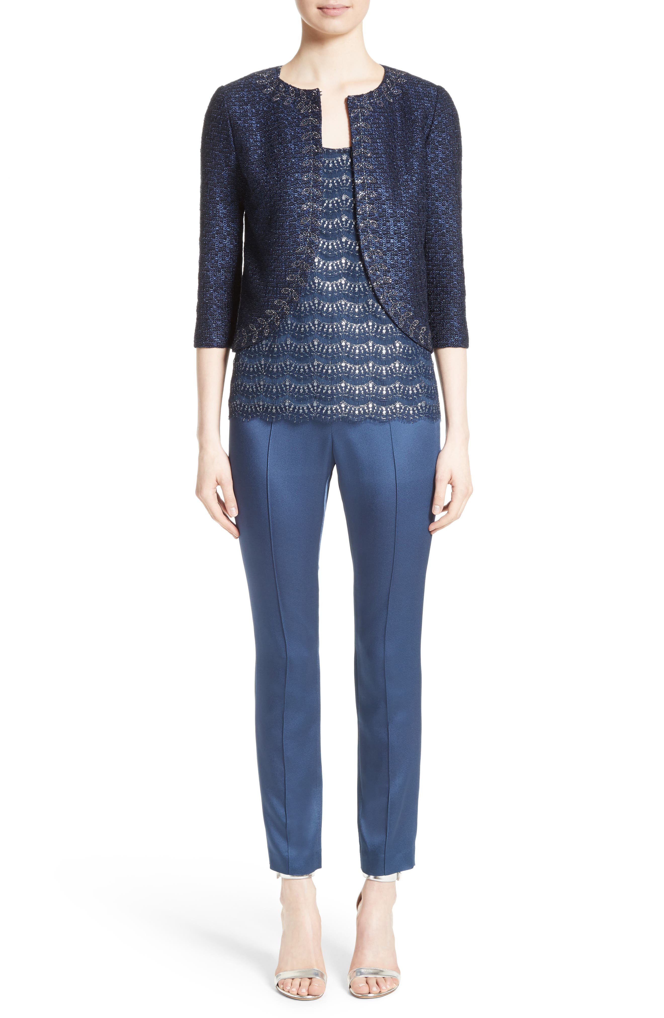 Alternate Image 8  - St. John Collection Jiya Sparkle Knit Jacket