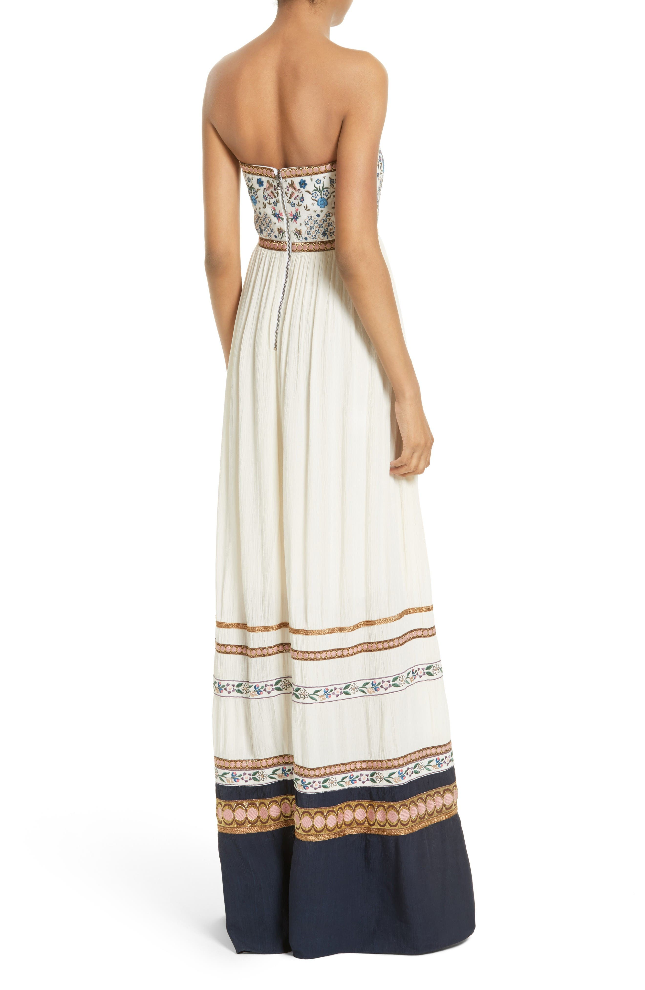 Alternate Image 2  - Alice + Olivia Quyen Embroidered Maxi Dress