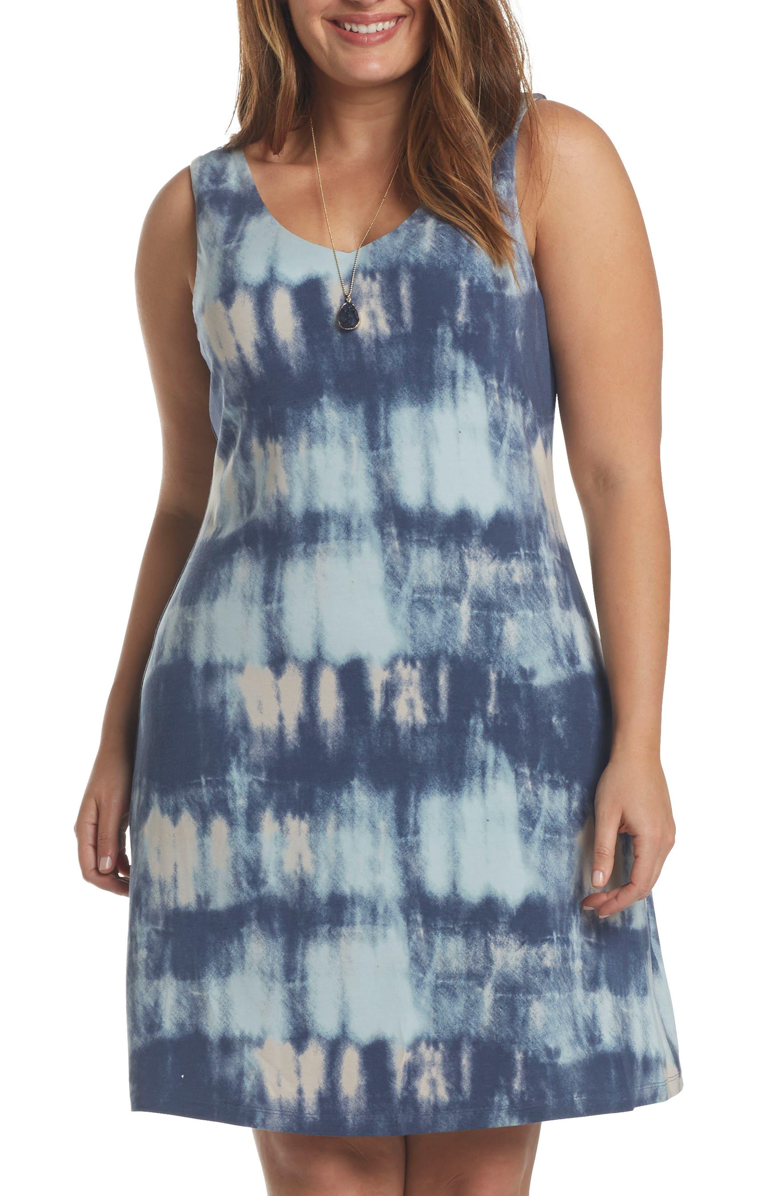 Charlie Jersey A-Line Dress,                         Main,                         color, Blue