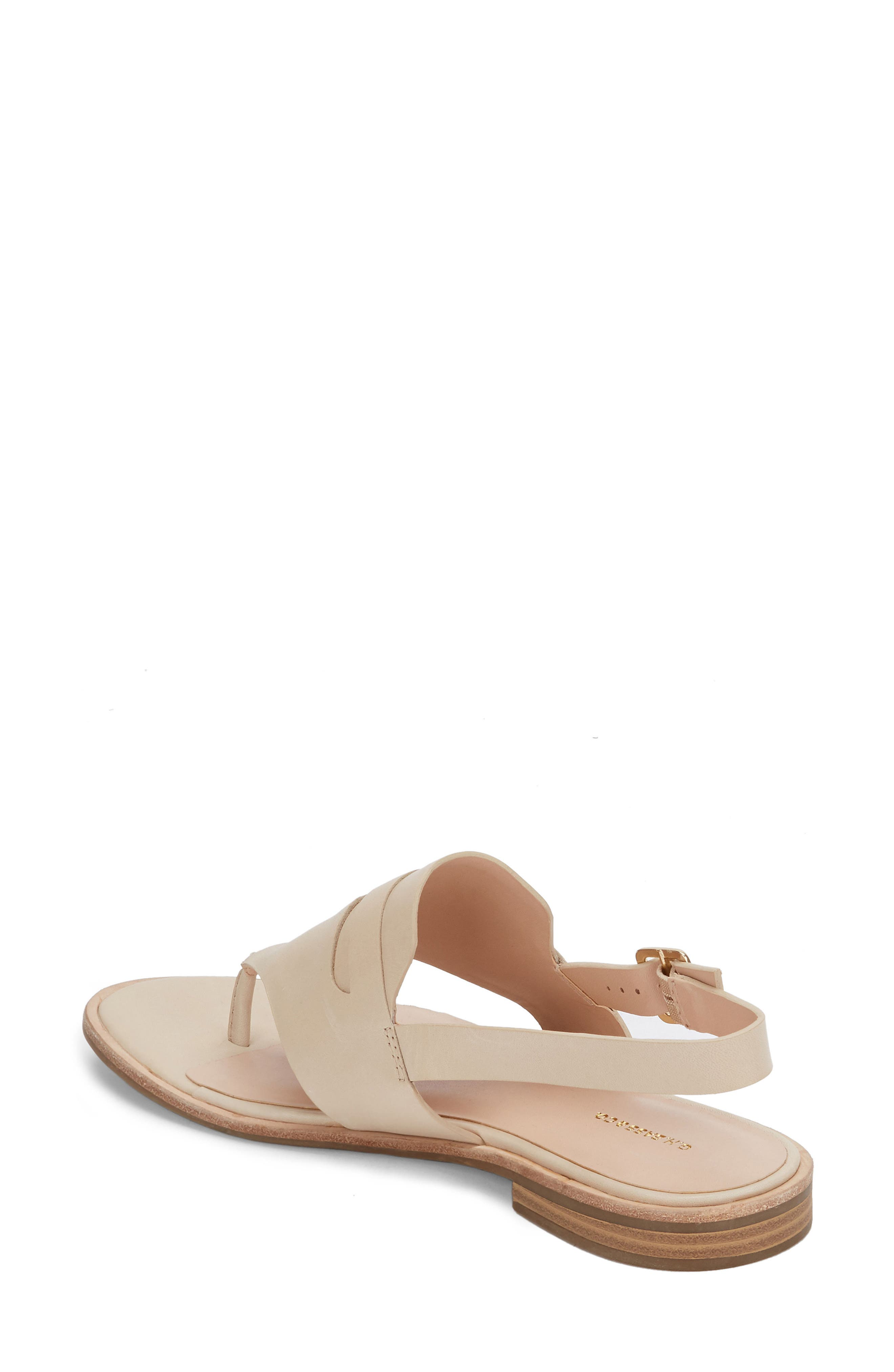 Maddie Slingback Sandal,                             Alternate thumbnail 2, color,                             Cream Leather