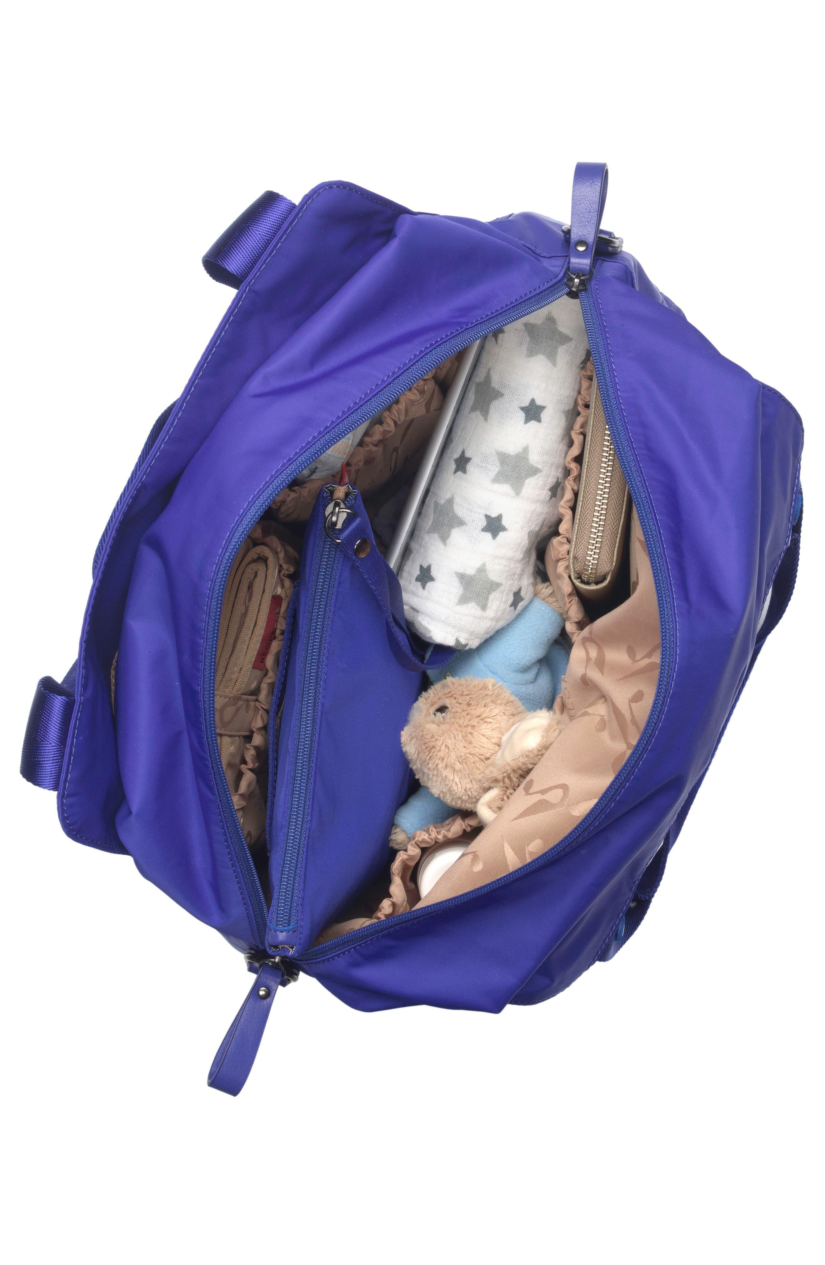 Storsak Alexa Diaper Bag,                             Alternate thumbnail 3, color,                             Indigo