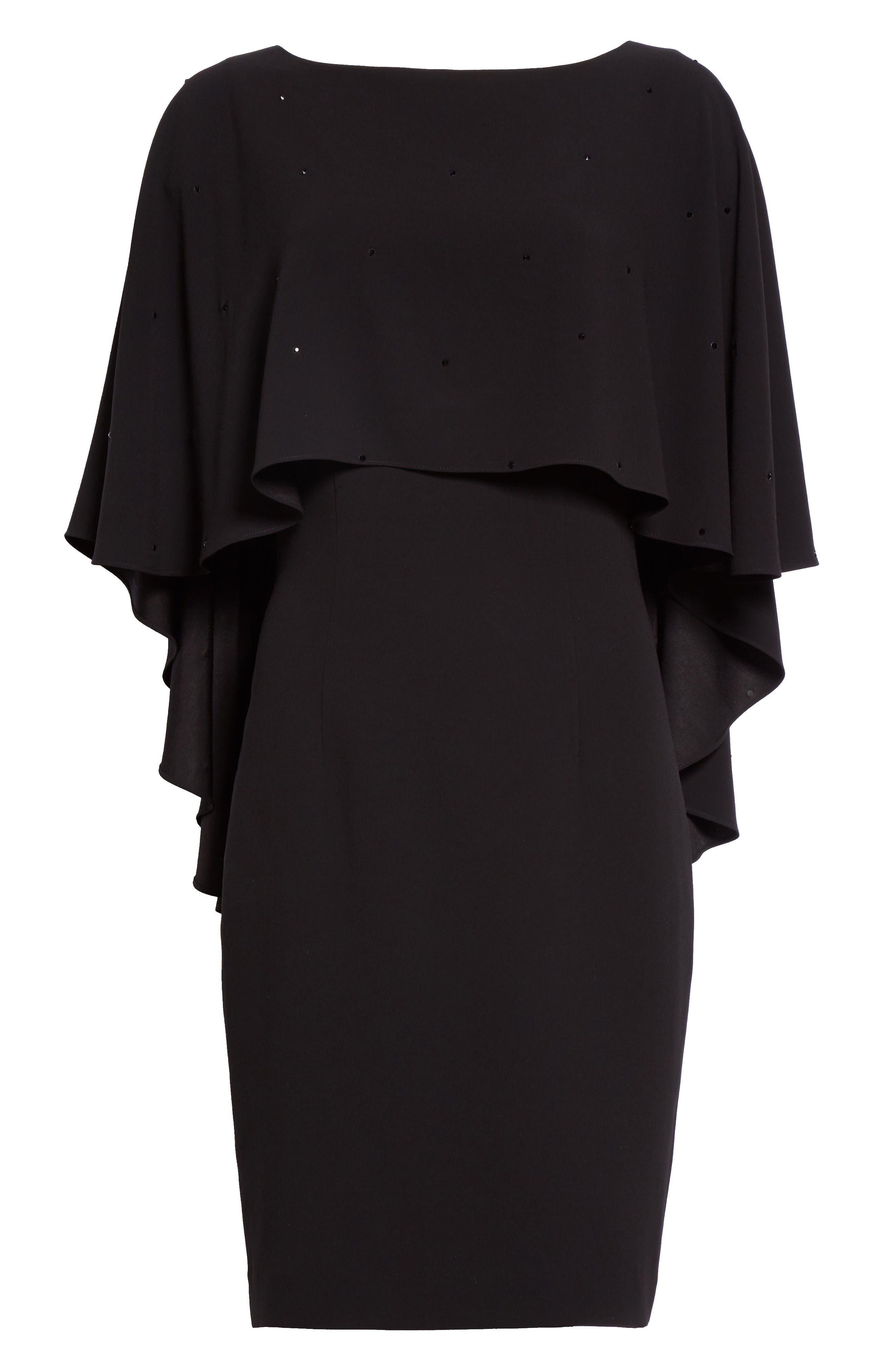 Alternate Image 6  - St. John Collection Satin Back Crepe Cape Dress