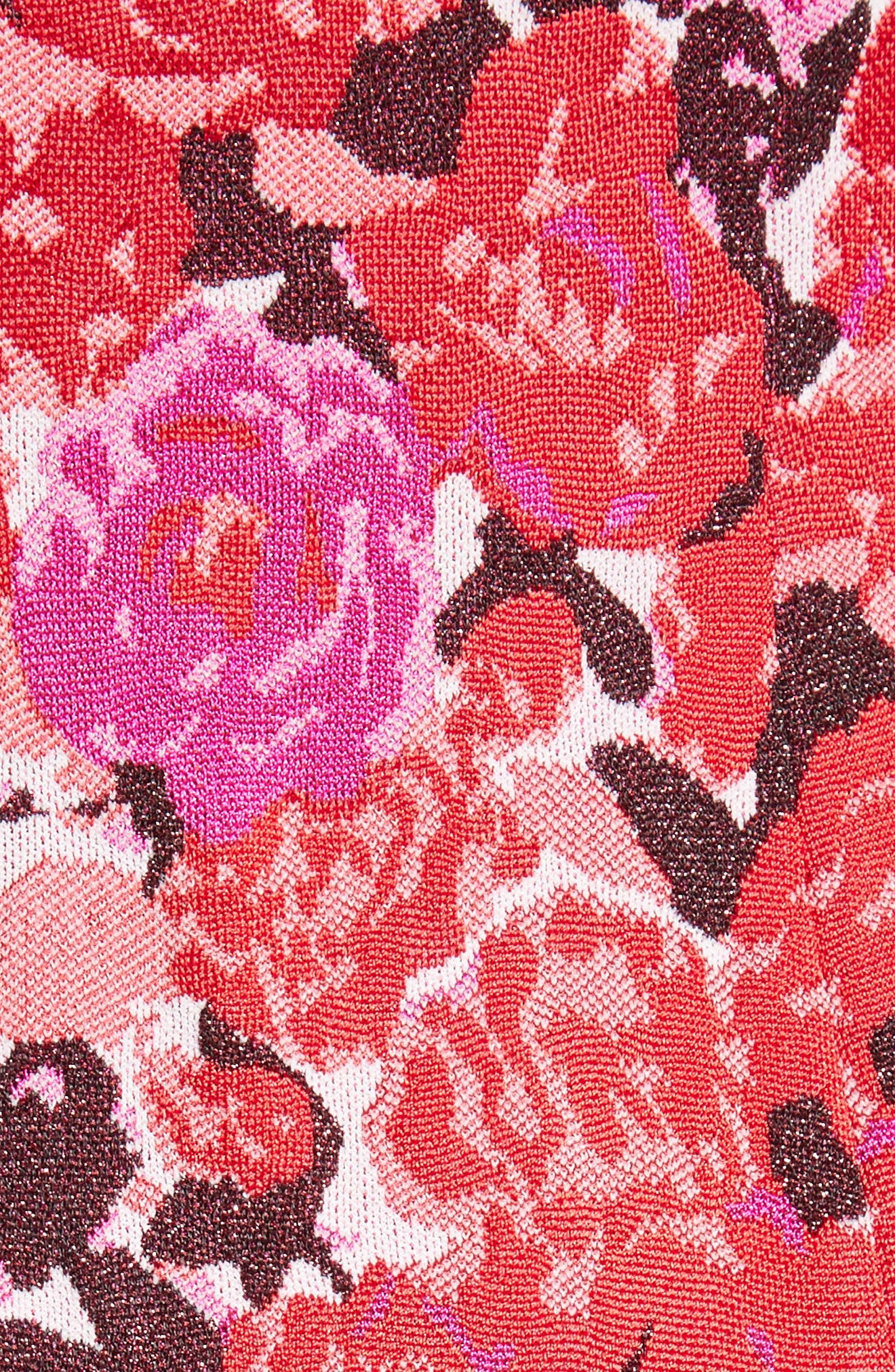 Alternate Image 5  - St. John Collection Indian Rose Blister Jacquard Dress