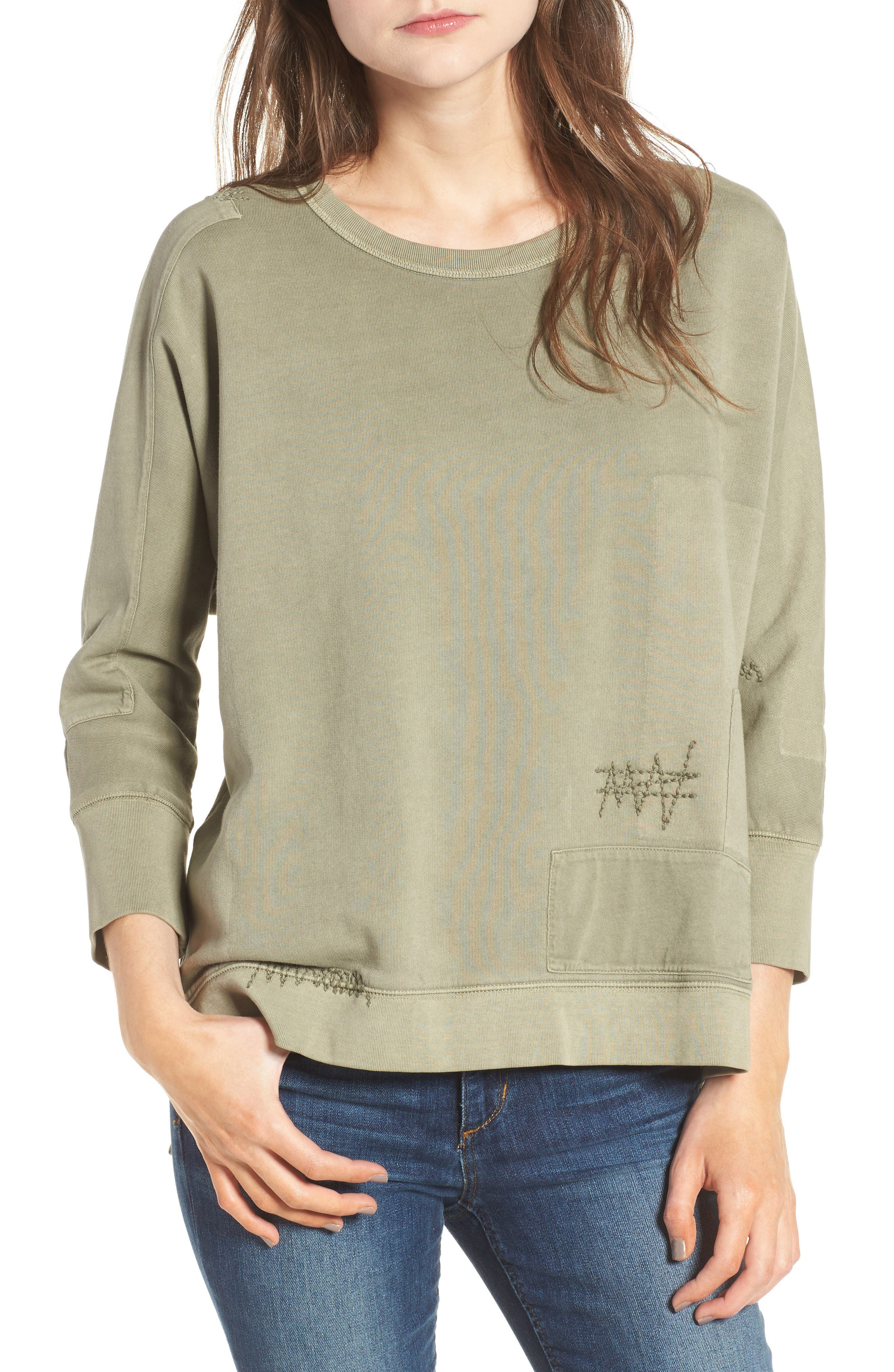 Alternate Image 1 Selected - Zadig & Voltaire Ahina Patch Pullover