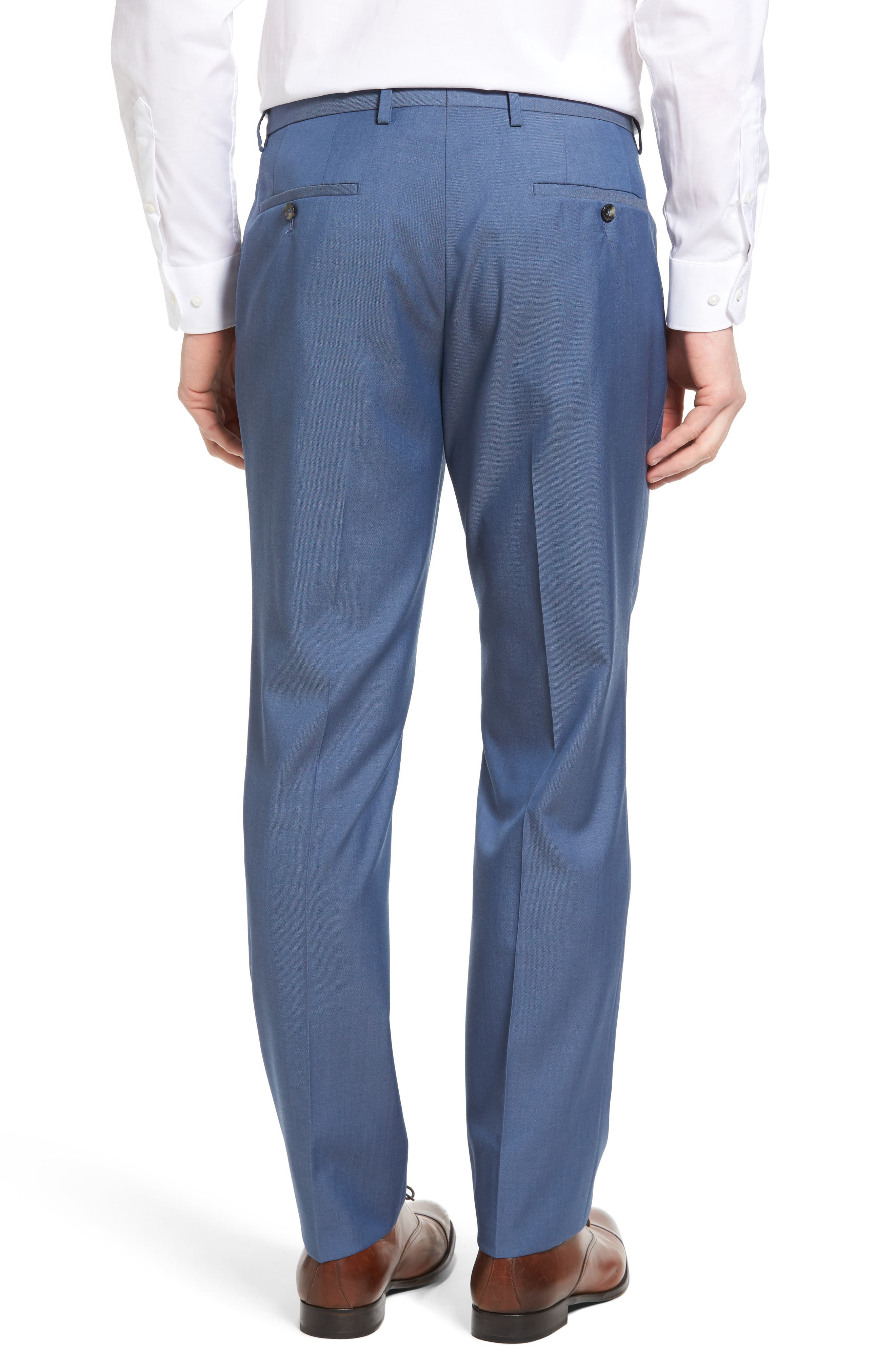Alternate Image 2  - BOSS Leenon Flat Front Solid Wool Trousers