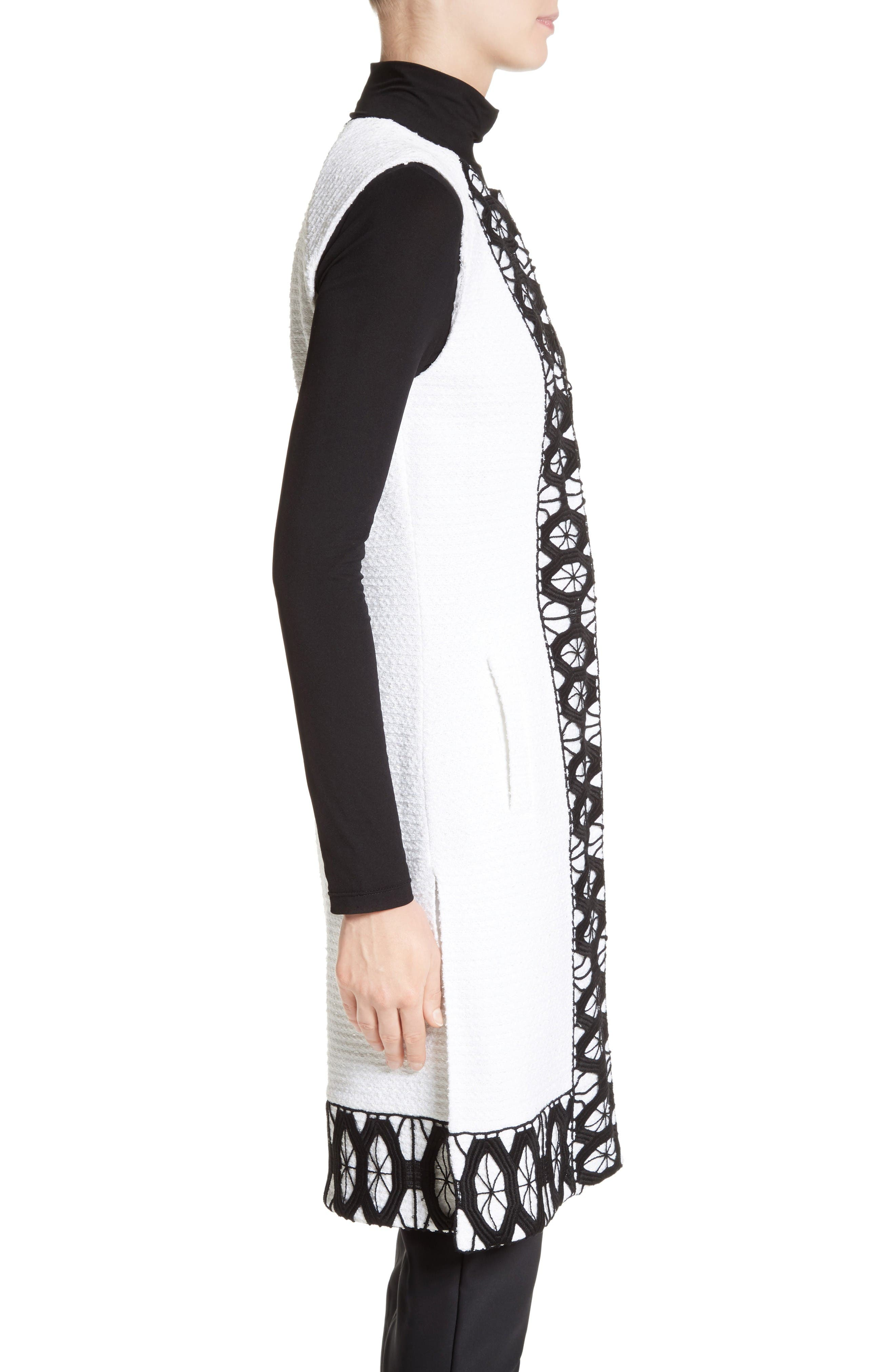 Alternate Image 3  - St. John Collection Sara Lace Trim Long Vest
