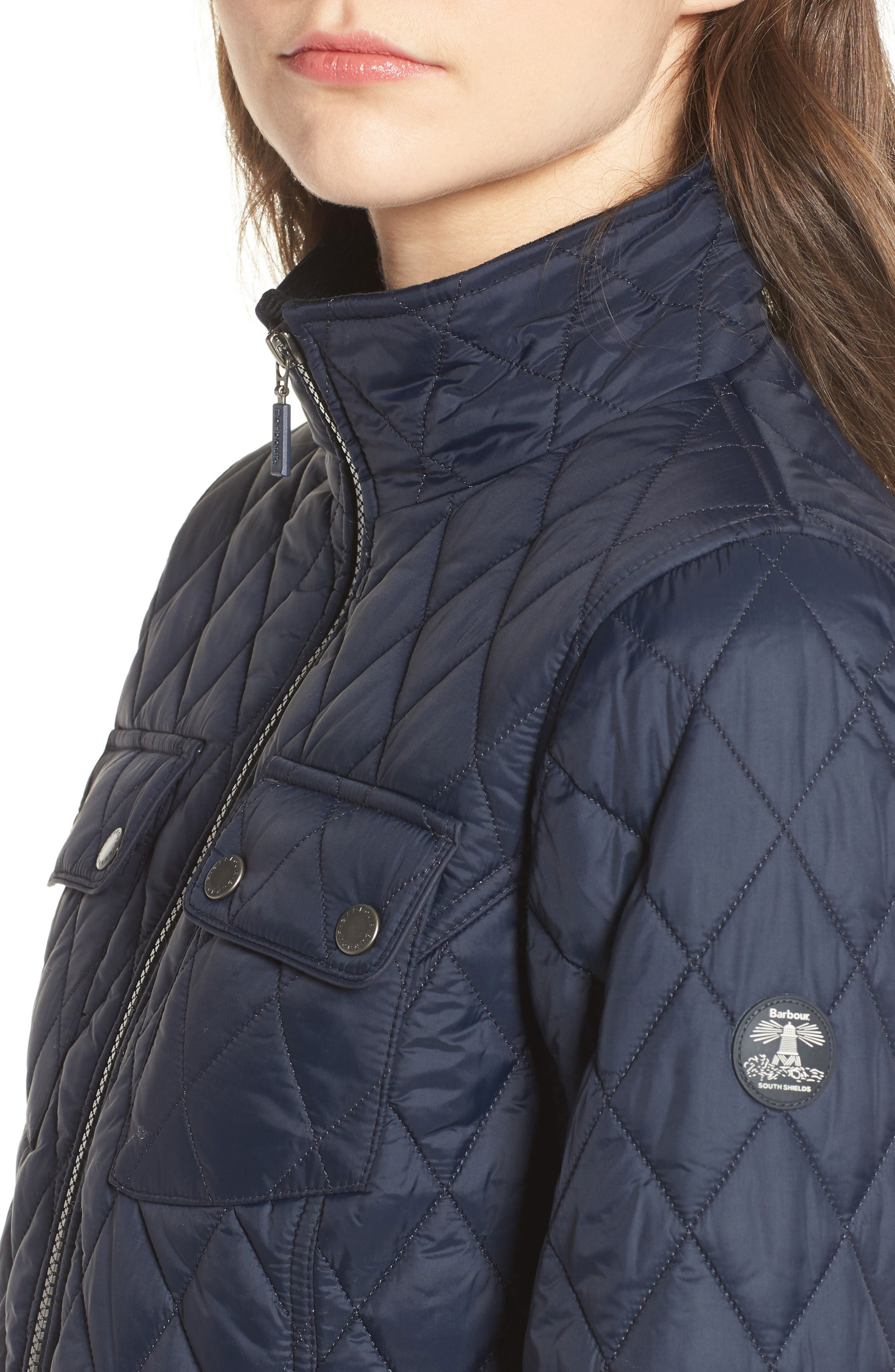 Dolostone Quilted Jacket,                             Alternate thumbnail 4, color,                             Dark Navy