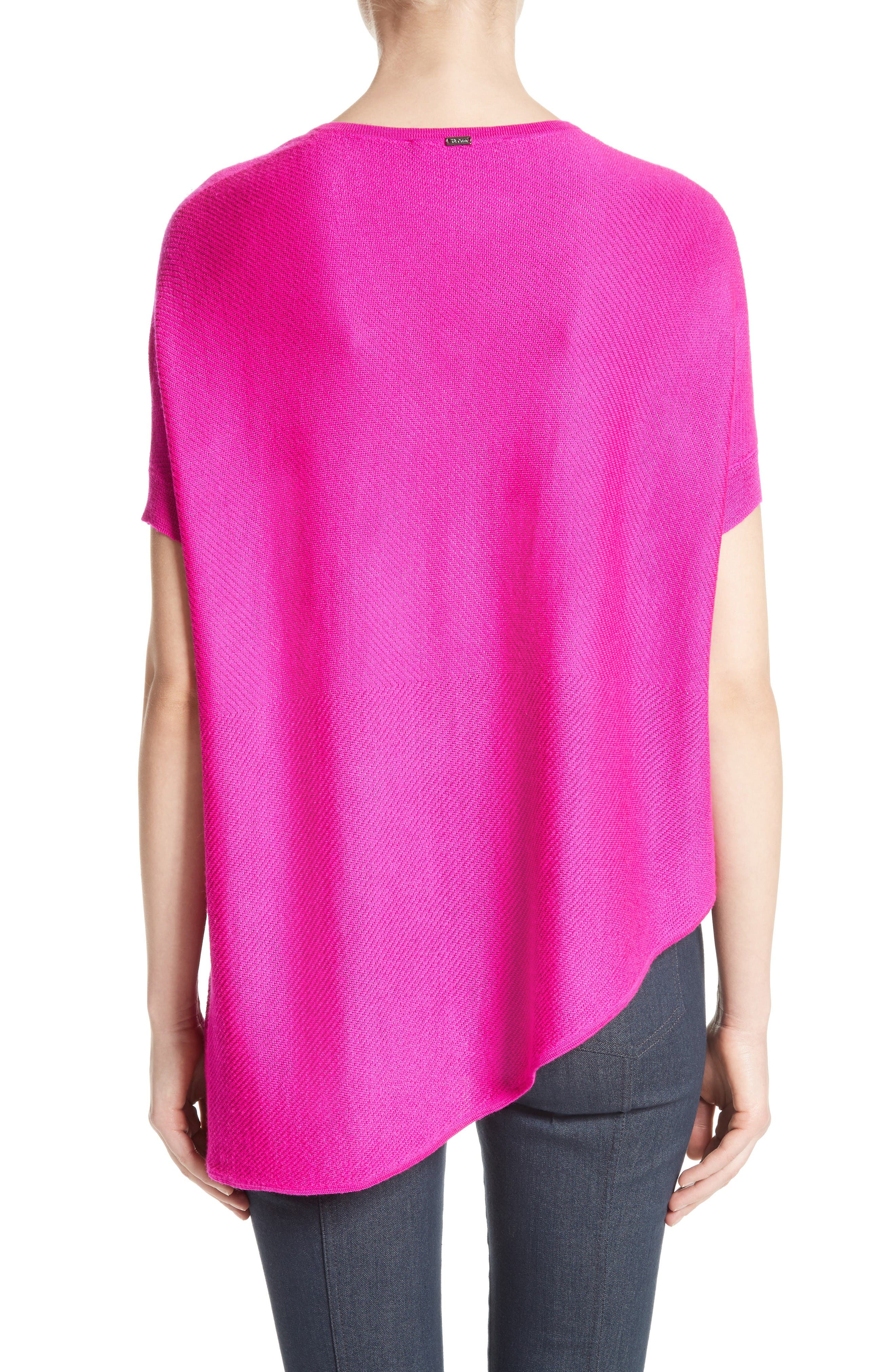 Alternate Image 2  - St. John Collection Matte Shine Weave Knit Tunic