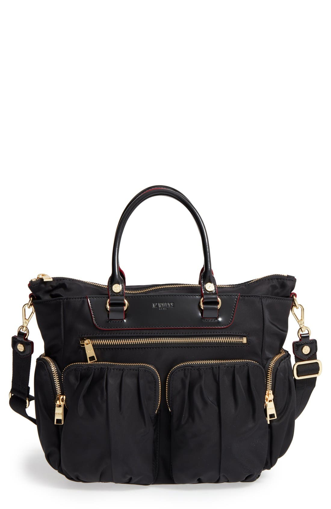 Small Abbey Tote,                             Main thumbnail 1, color,                             Black Bedford