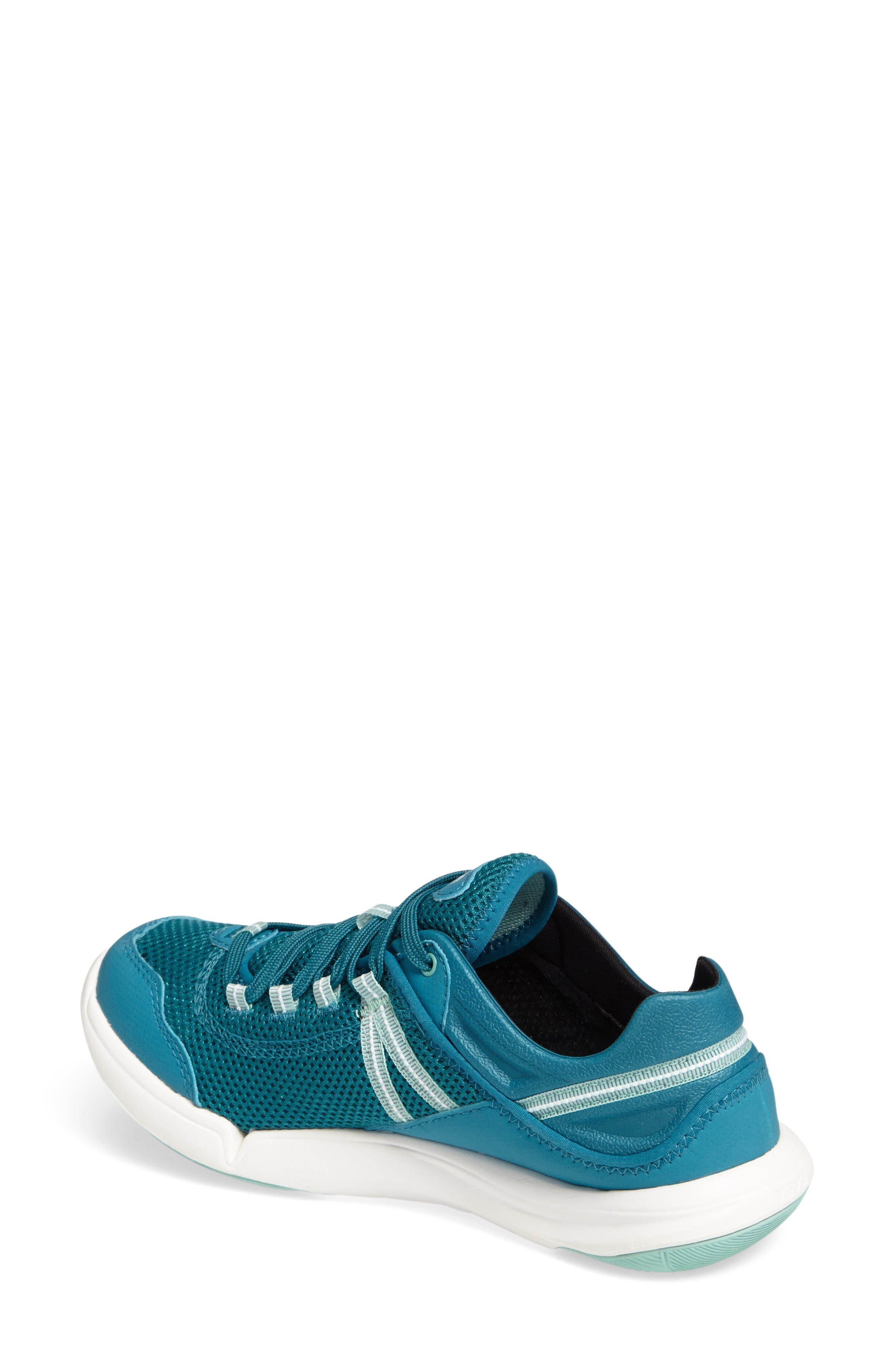 Evo Sneaker,                             Alternate thumbnail 2, color,                             Blue Fabric