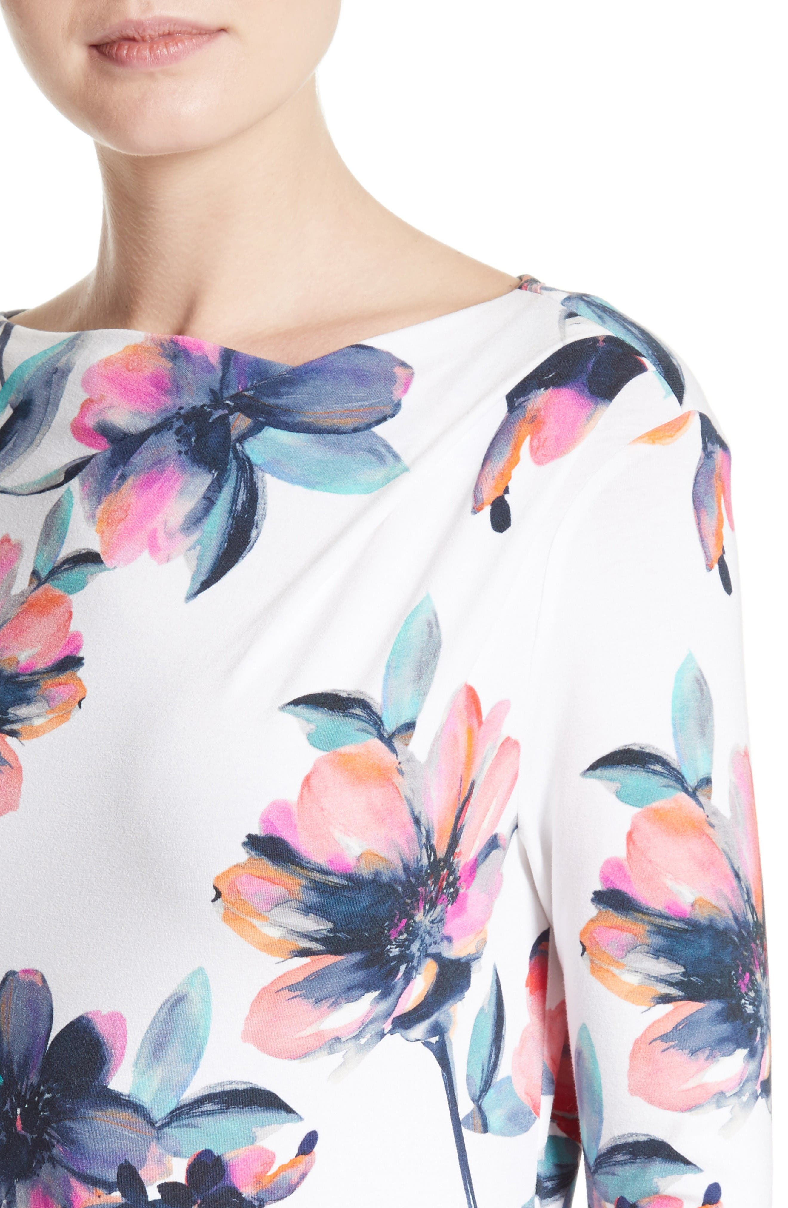 Alternate Image 4  - St. John Collection Naveena Floral Print Top