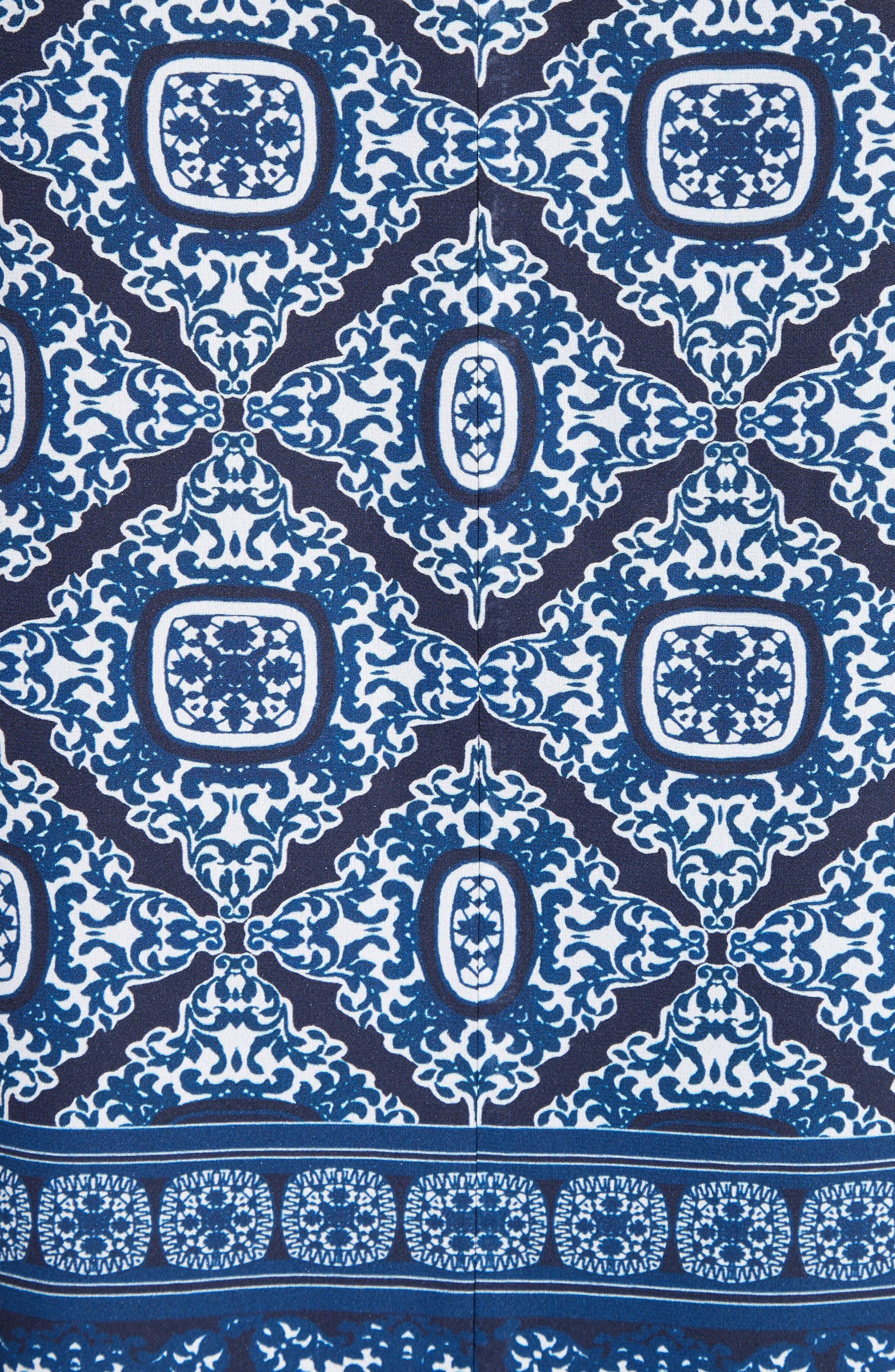 Alternate Image 5  - St. John Collection Jaipur Tile Print Stretch Silk Blouse