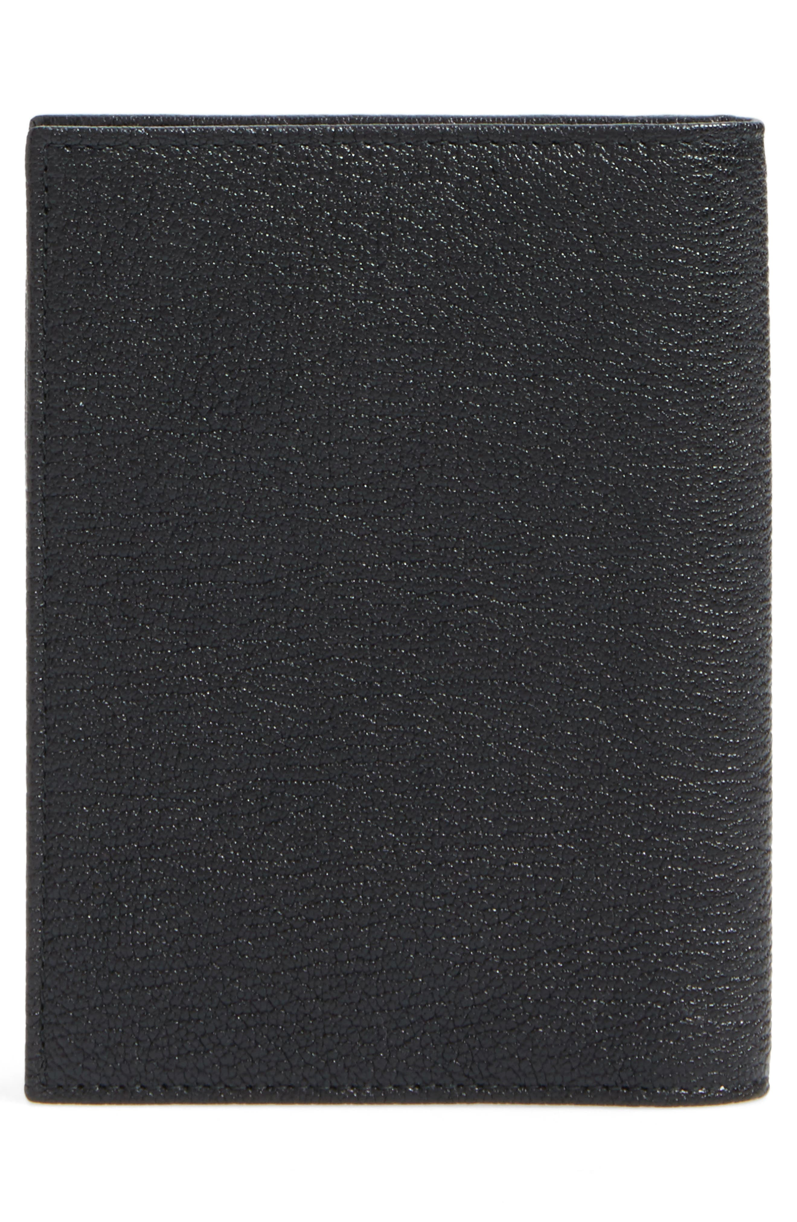 Leather Passport Case,                             Alternate thumbnail 3, color,                             Nero