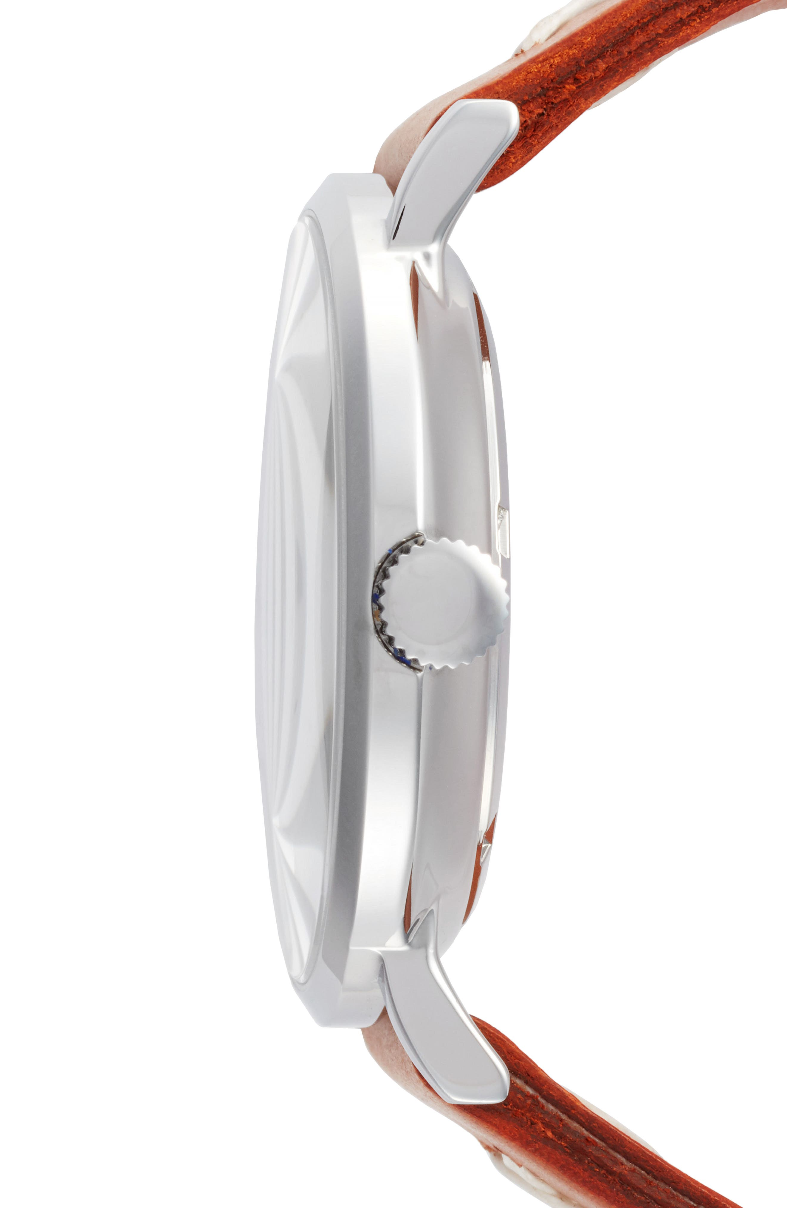 Alternate Image 2  - Throne 1.0 Leather Strap Watch, 40mm
