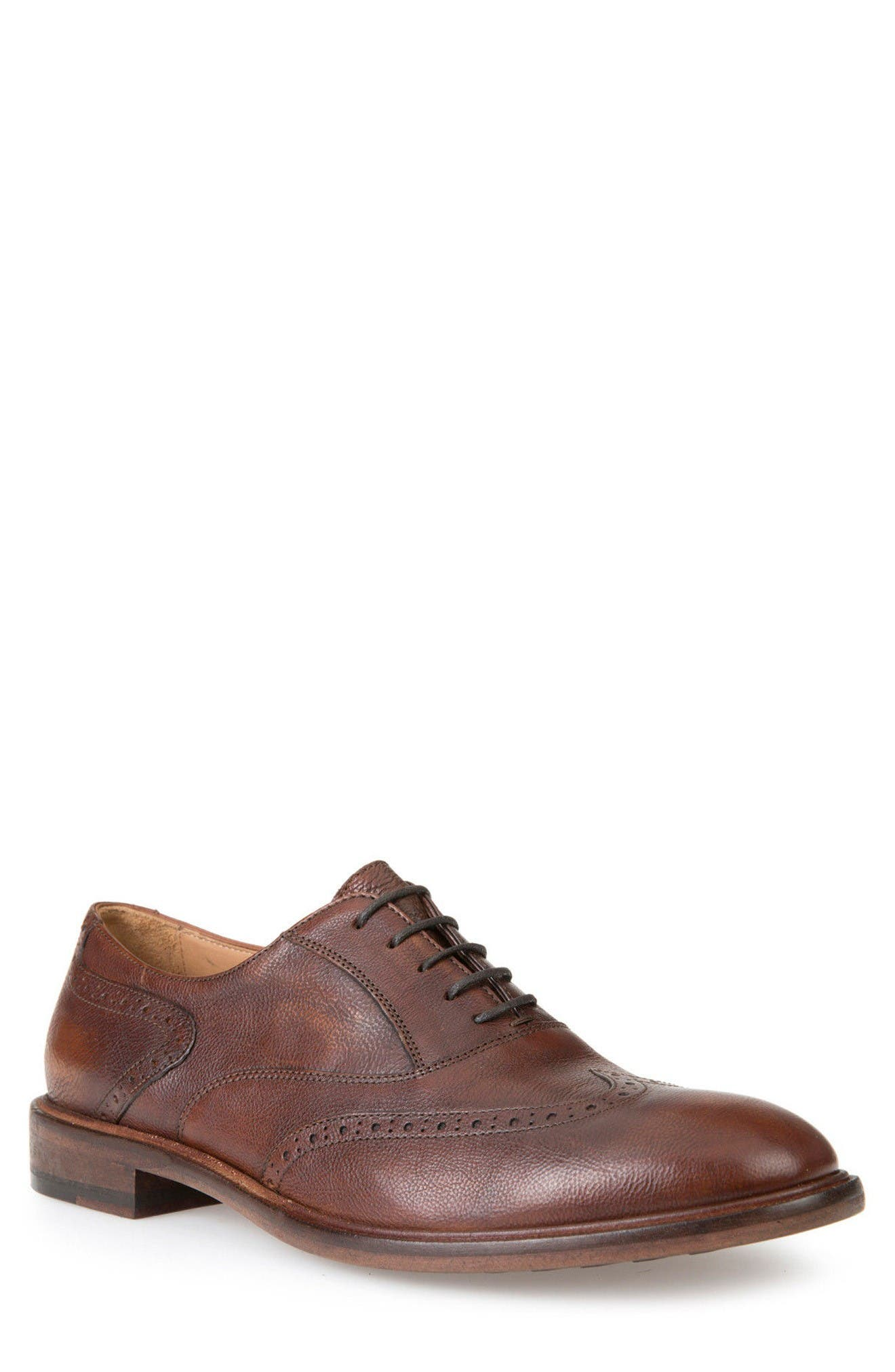 Guildford 9 Wingtip,                         Main,                         color, Brown Leather