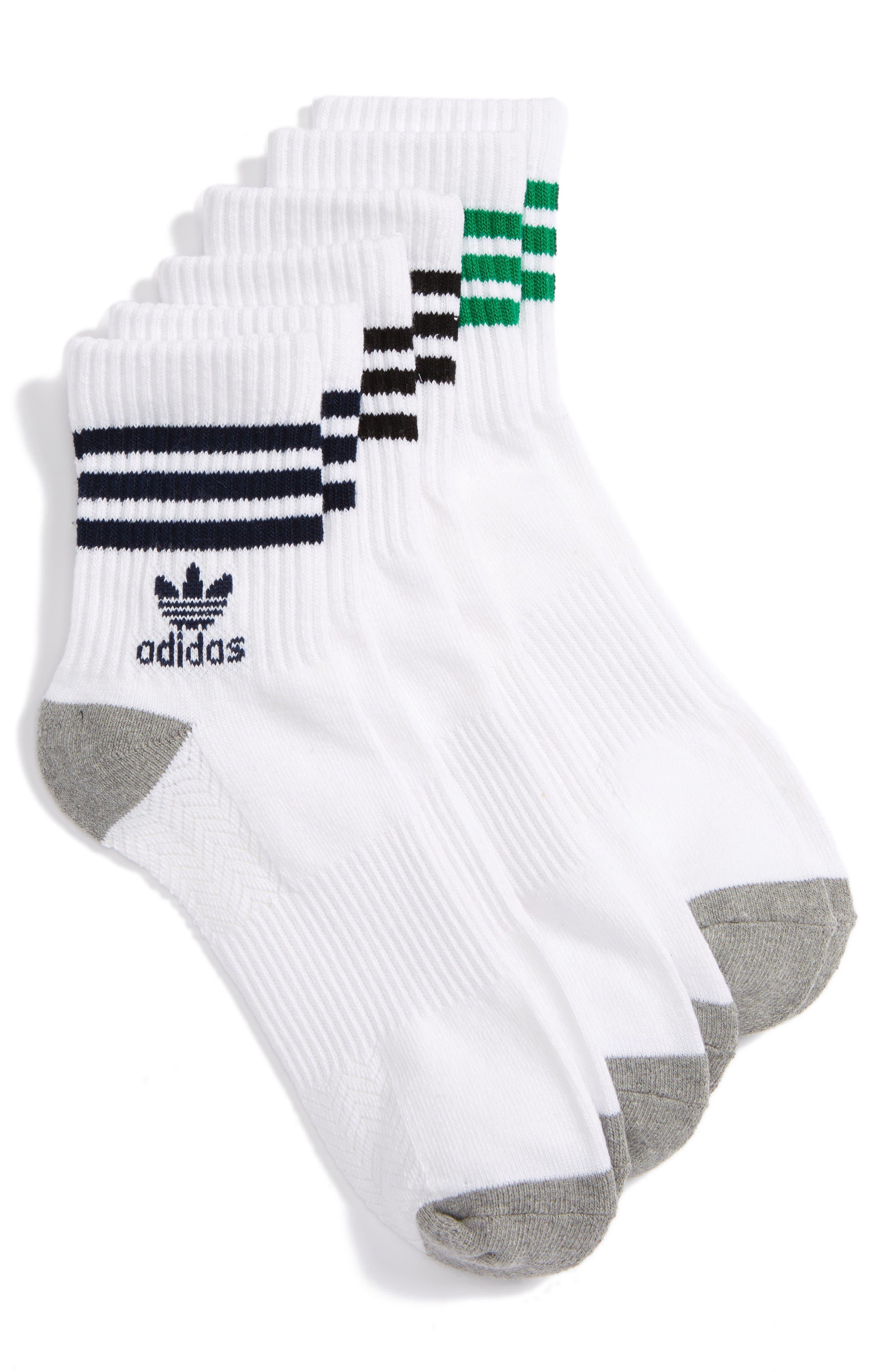 Main Image - adidas Originals 3-Pack Quarter Crew Socks