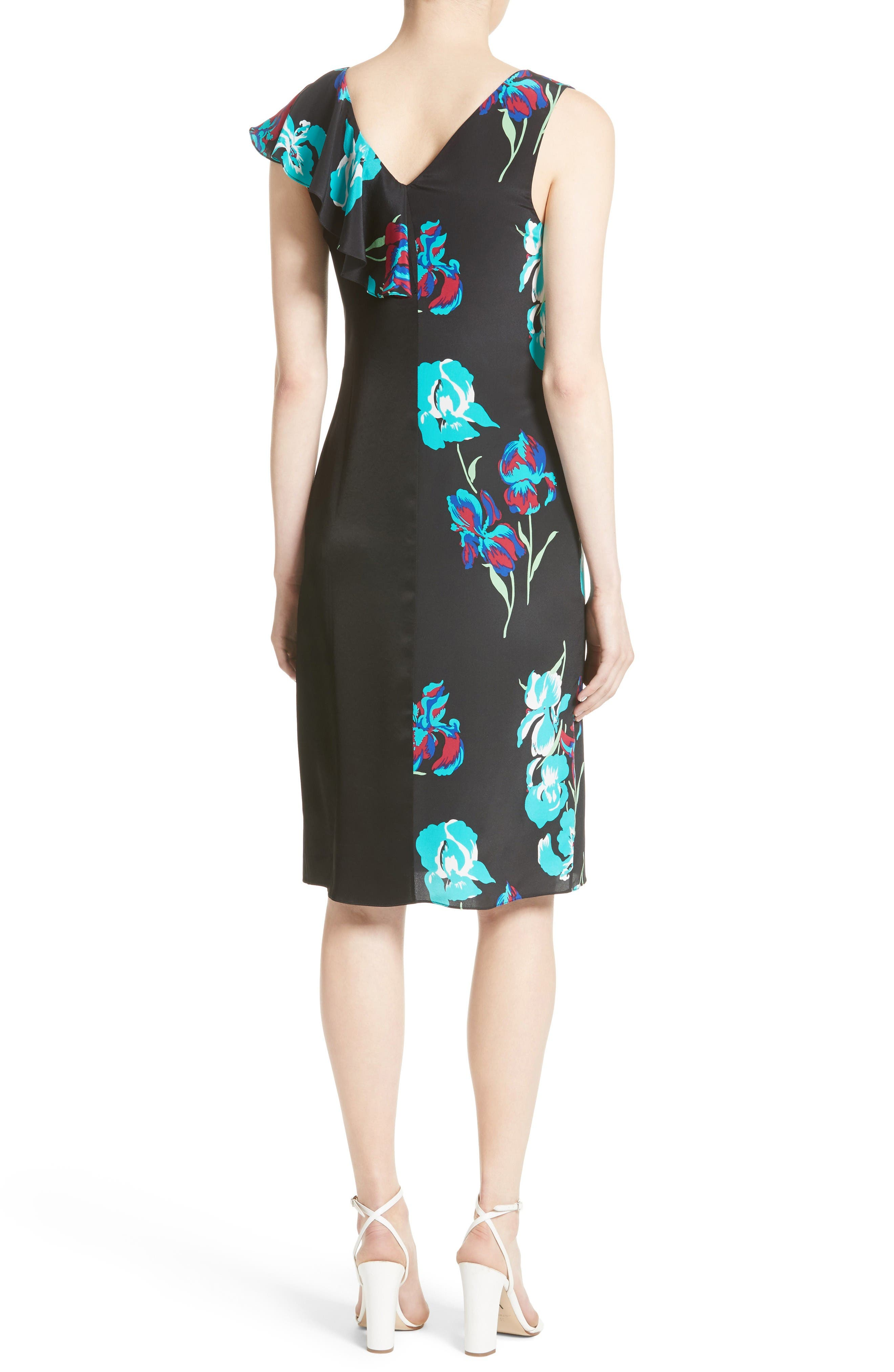 Alternate Image 2  - Diane von Furstenberg Silk Side Ruffle Sheath Dress