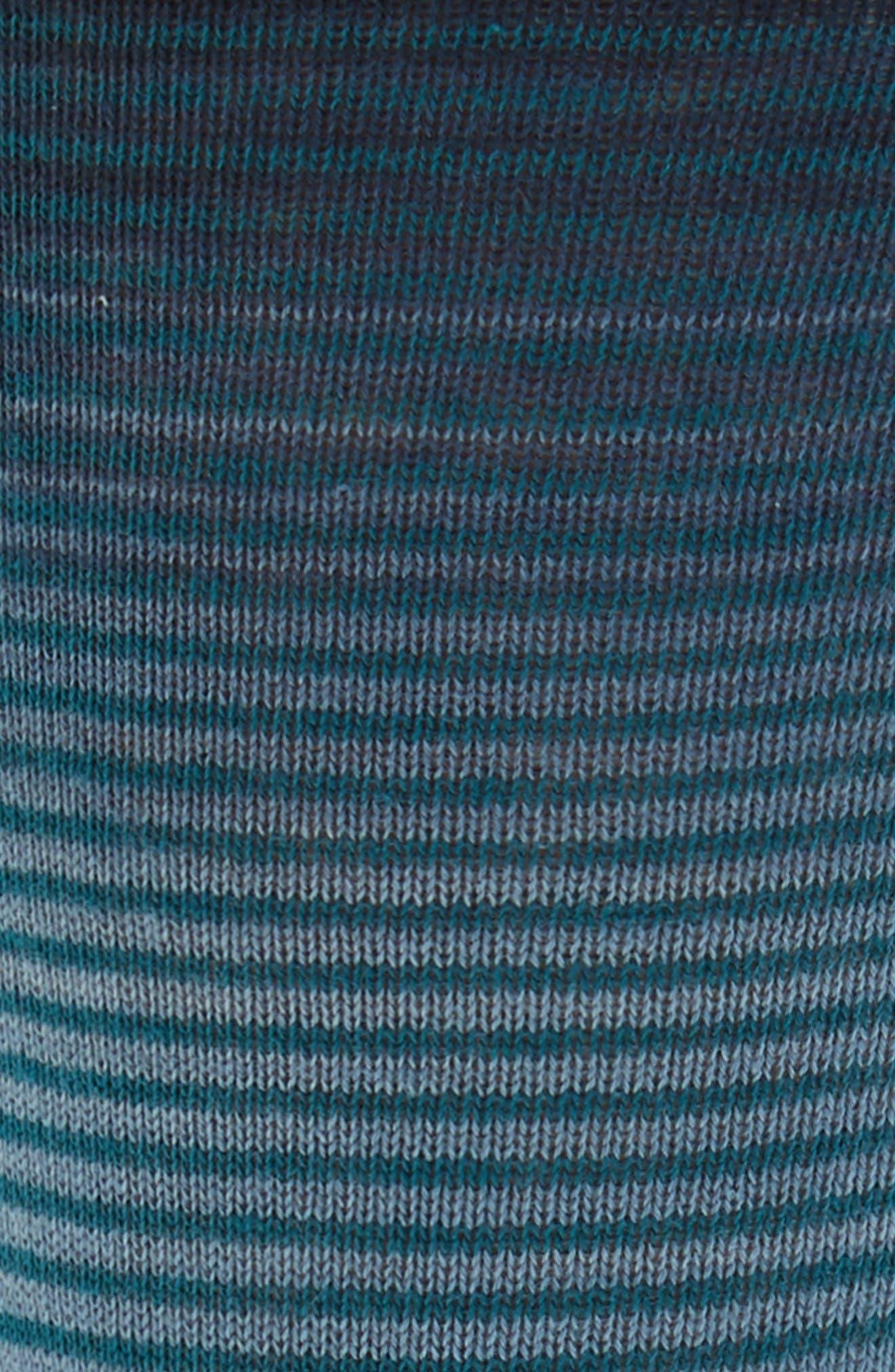 Alternate Image 2  - Lorenzo Uomo Thin Stripe Crew Socks (3 for $30)