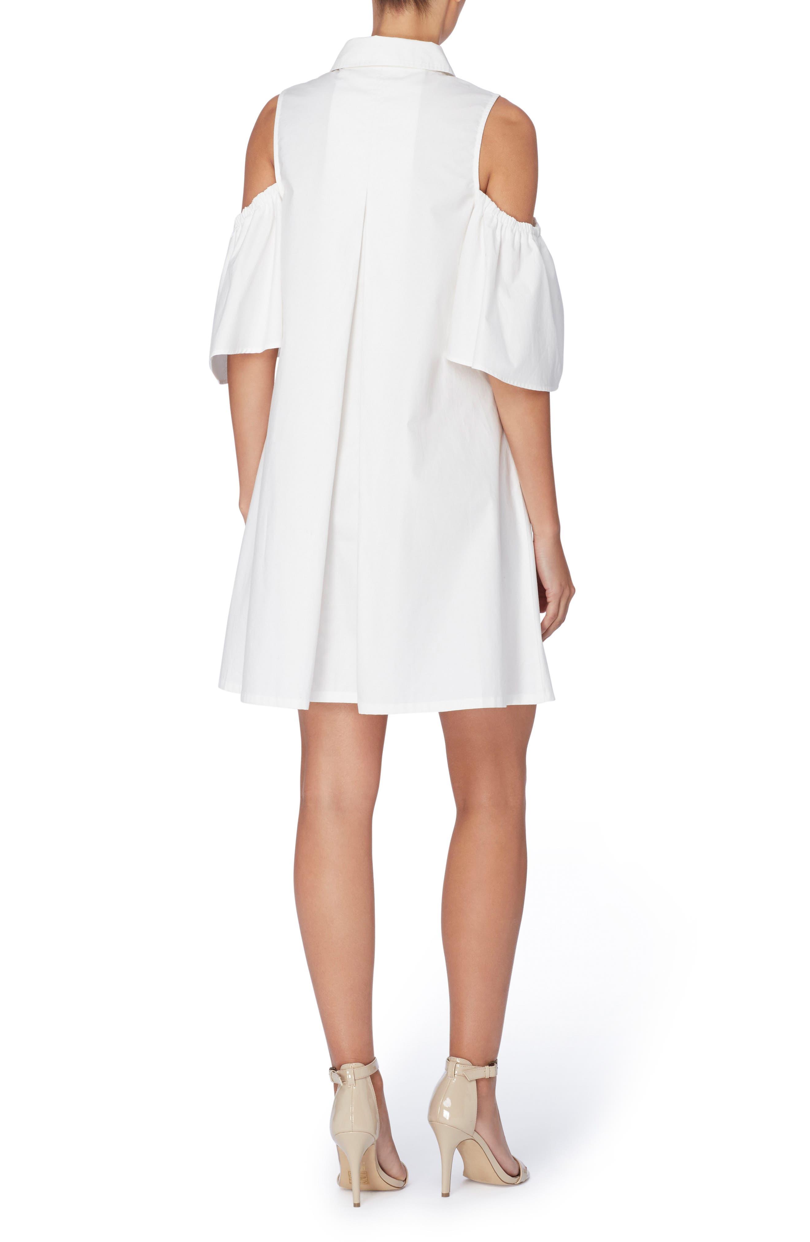 Alternate Image 2  - Catherine Catherine Malandrino Zito Cold Shoulder Shirtdress