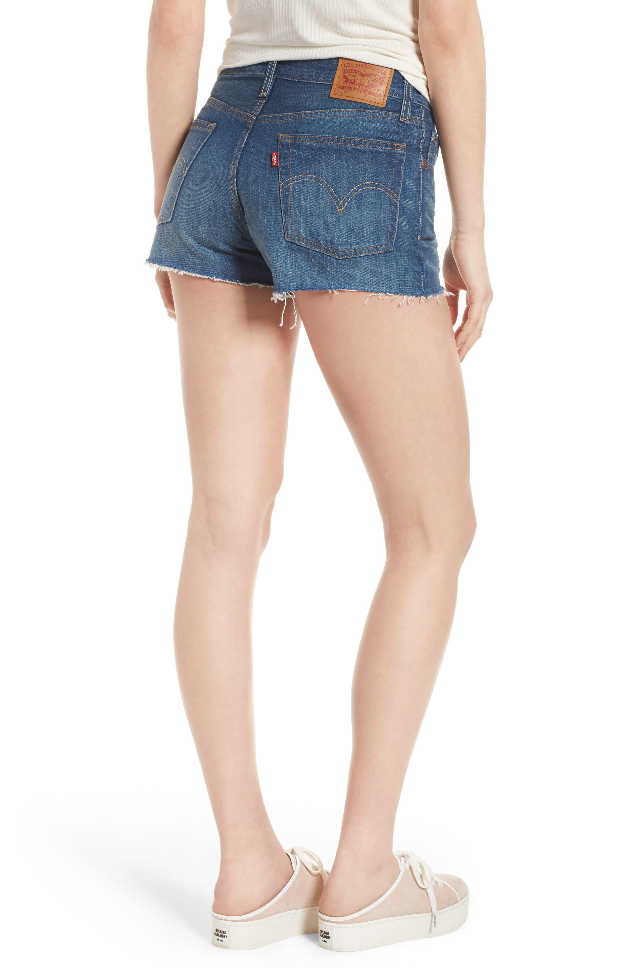 Alternate Image 3  - Levi's® 501® Cutoff Denim Shorts (California Tide)