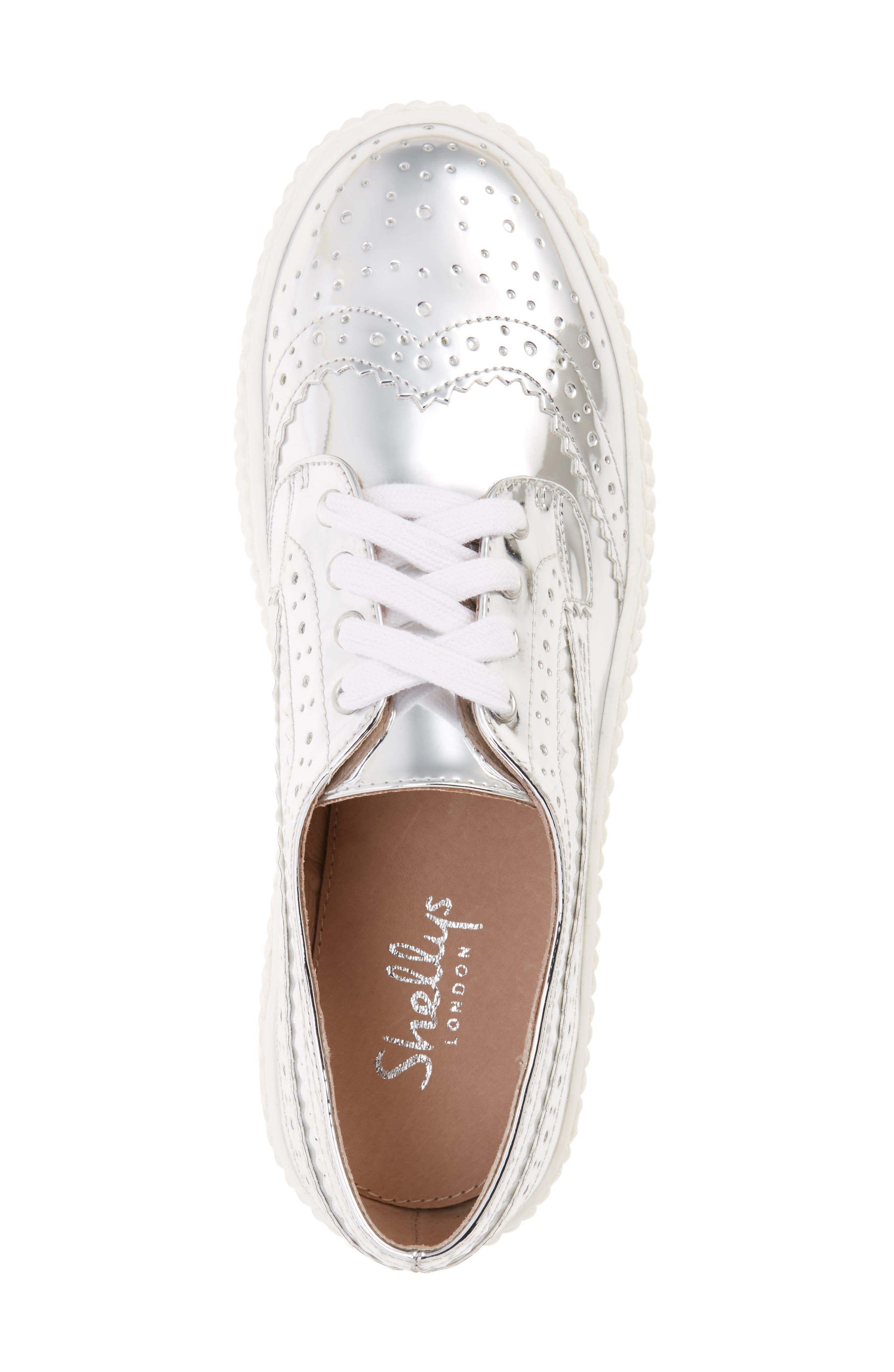 Dilys Platform Sneaker,                             Alternate thumbnail 3, color,                             Silver