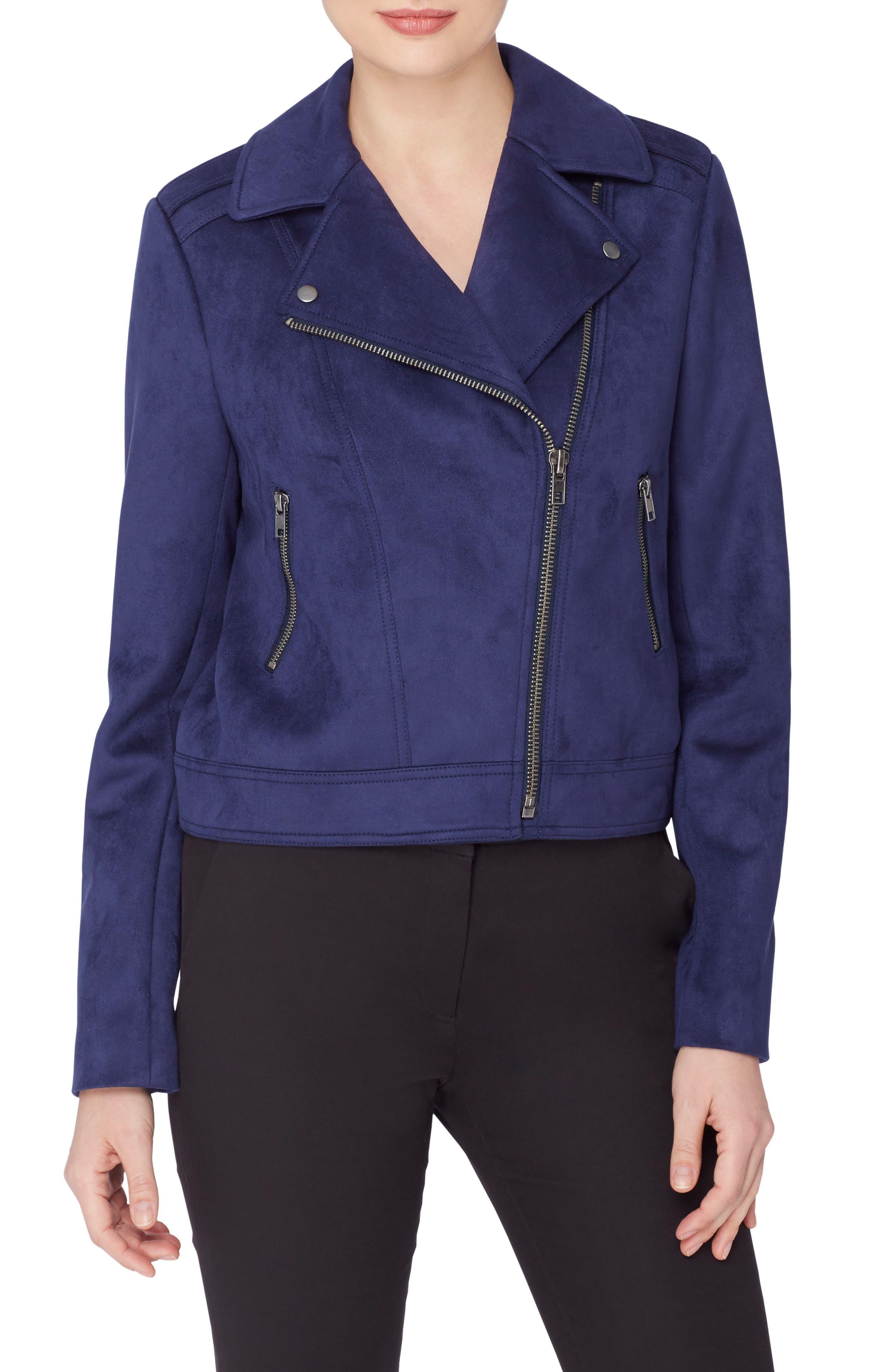 Catherine Catherine Malandrino Faux Suede Moto Jacket