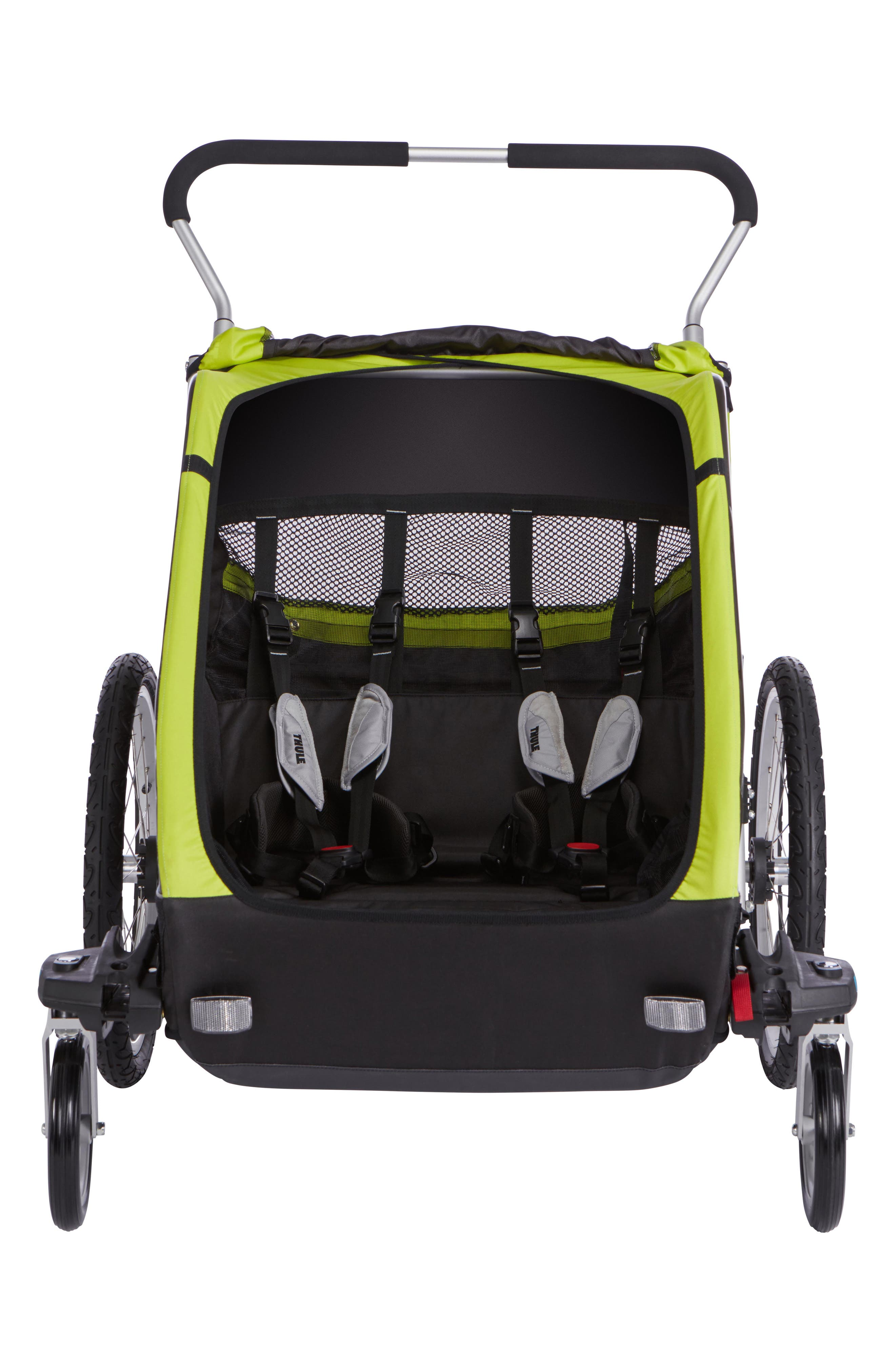 Chariot Cheetah XT 2 Multisport Double Cycle Trailer/Stroller,                             Alternate thumbnail 4, color,                             Chartreuse