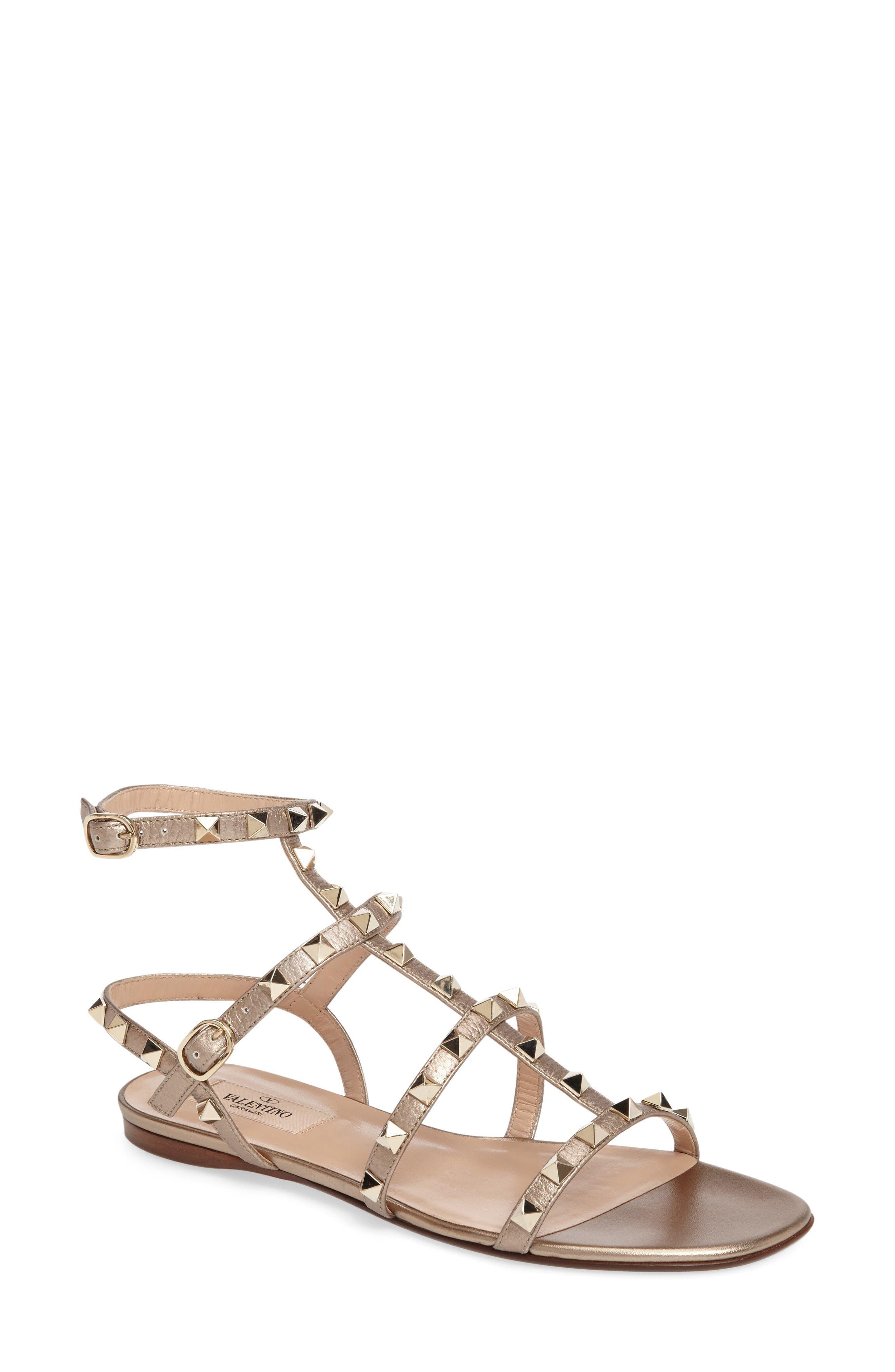 Alternate Image 1 Selected - VALENTINO GARAVANI 'Rockstud' Gladiator Sandal (Women)