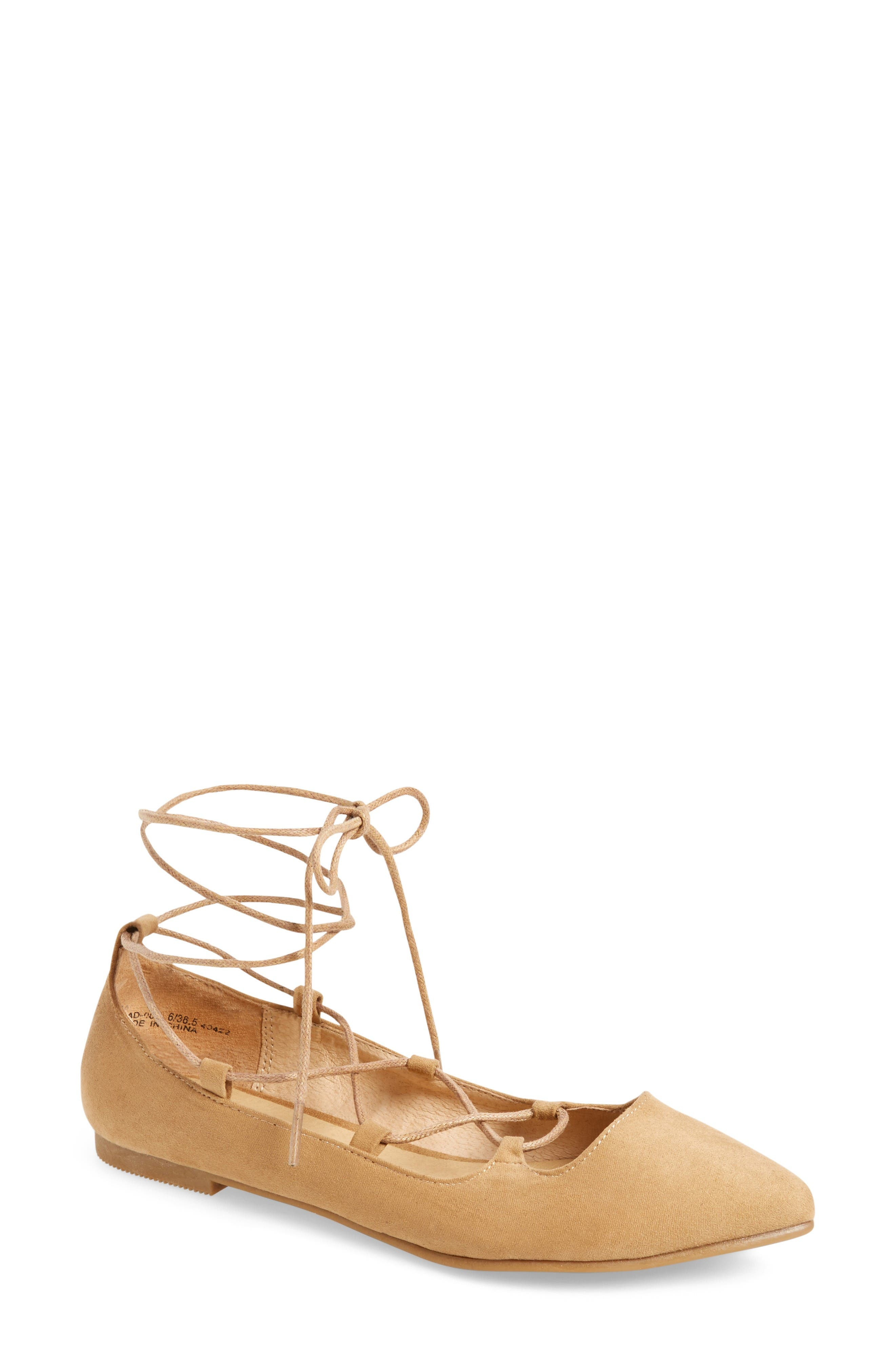 Alternate Image 1 Selected - Chinese Laundry Endless Summer Ghillie Flat (Women)
