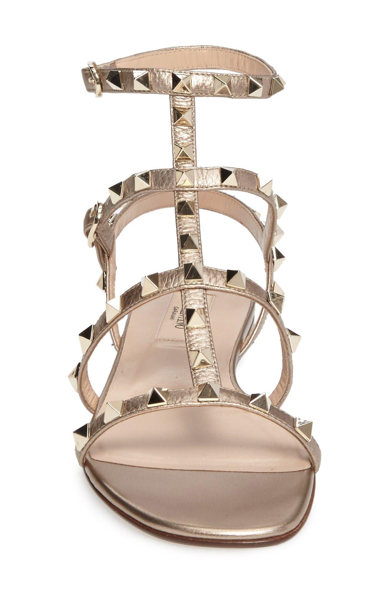 Alternate Image 3  - VALENTINO GARAVANI 'Rockstud' Gladiator Sandal (Women)