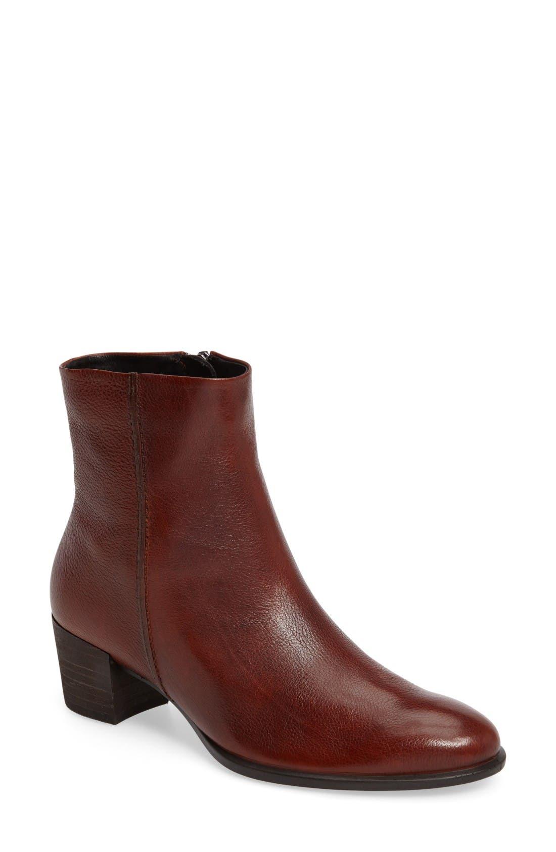 Shape 35 Bootie,                         Main,                         color, Cognac Leather