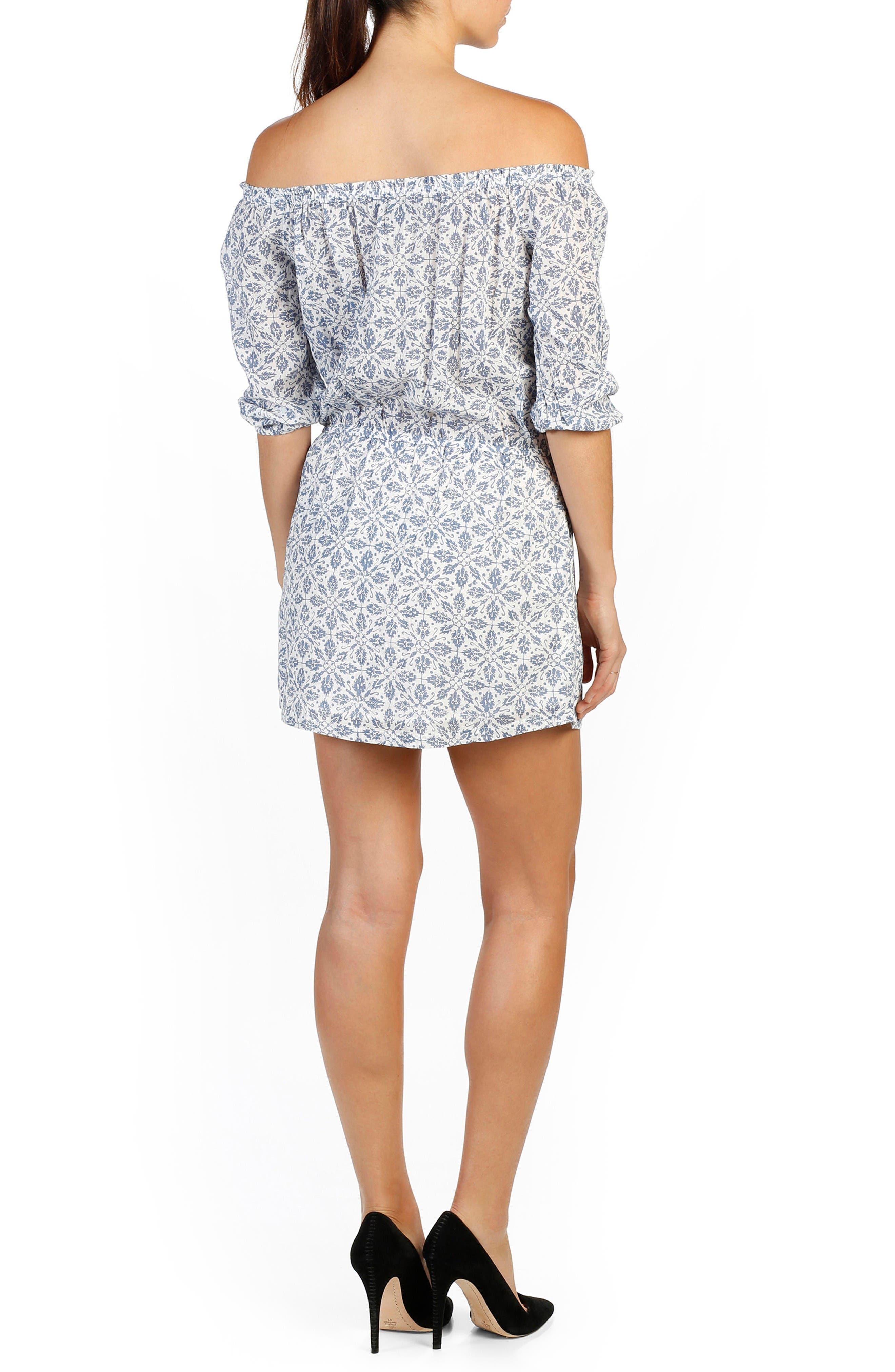 Alternate Image 2  - PAIGE Clover Off the Shoulder Dress
