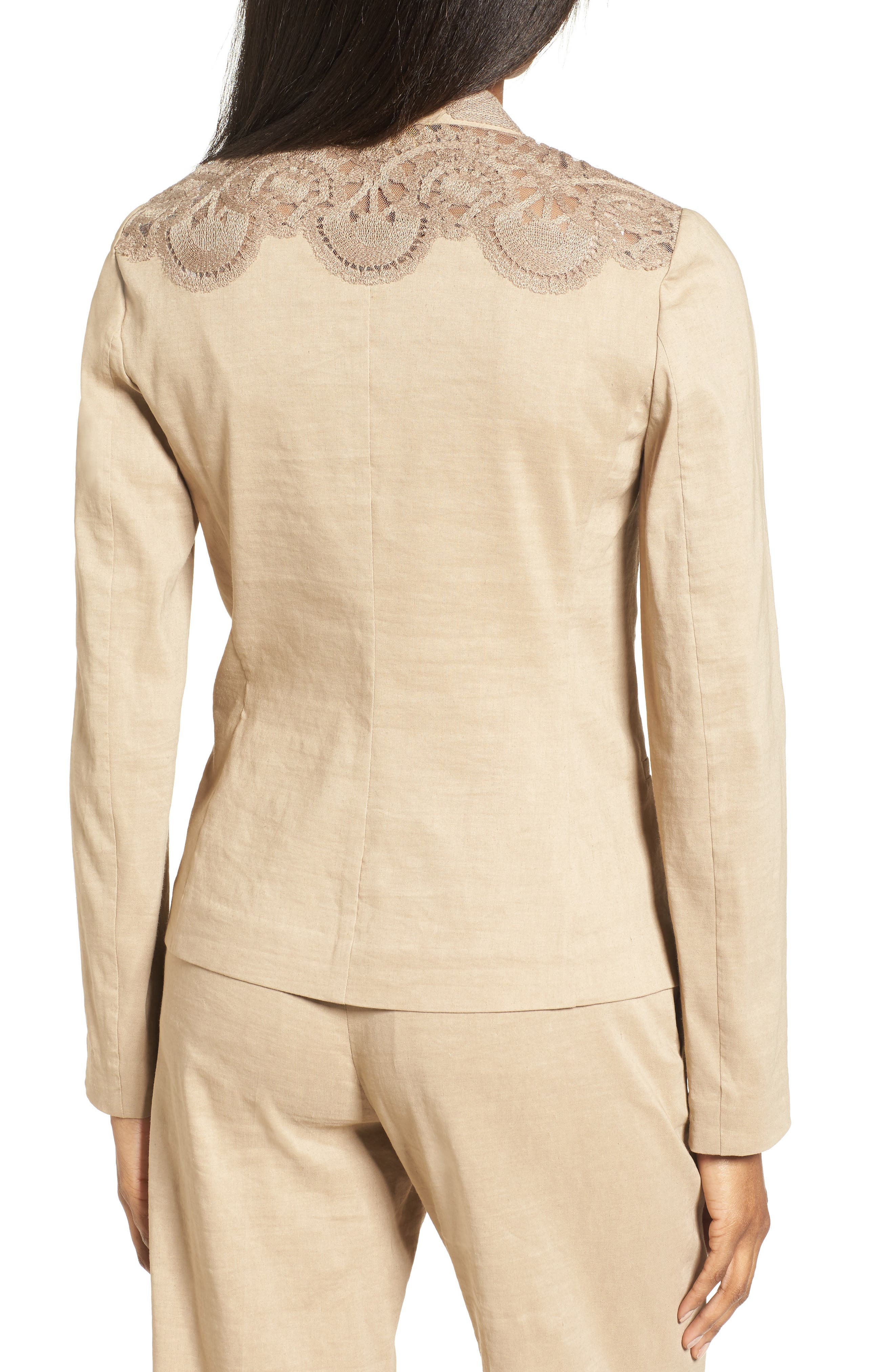 Alternate Image 3  - Kobi Halperin Claudia Lace Trim Jacket