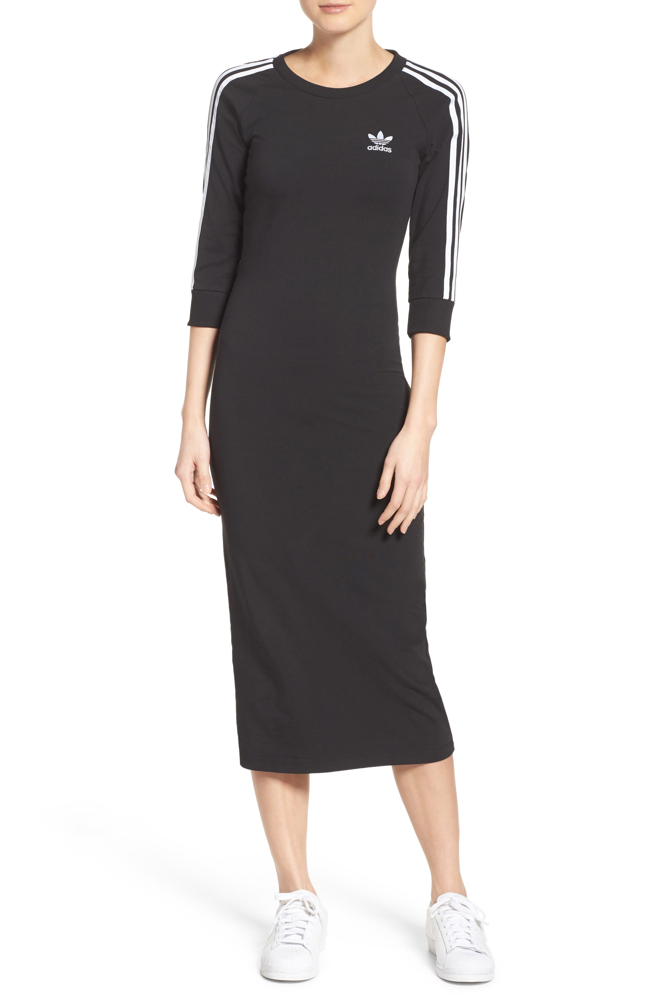 Originals 3-Stripes Dress,                         Main,                         color, Black