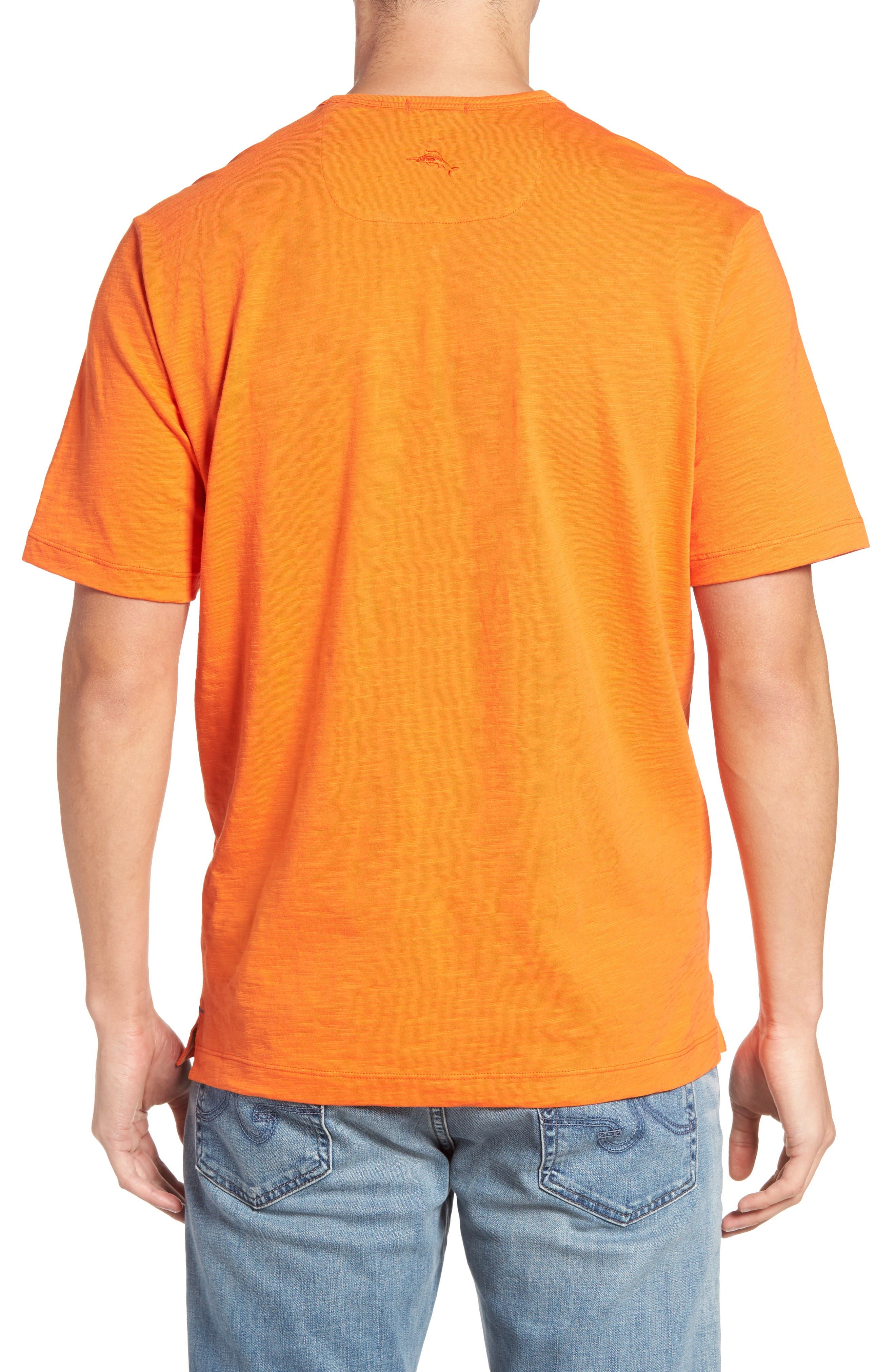 'Portside Player' Pima Cotton T-Shirt,                             Alternate thumbnail 2, color,                             Citrus Punch